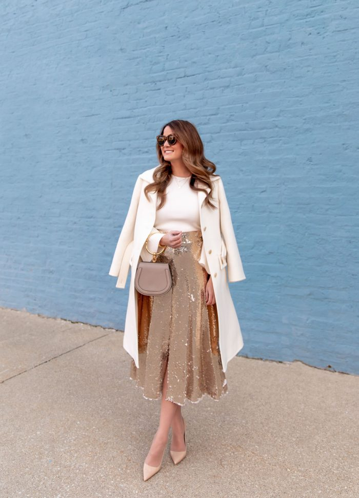 The Perfect Sequin Midi Skirt for New Year's Eve