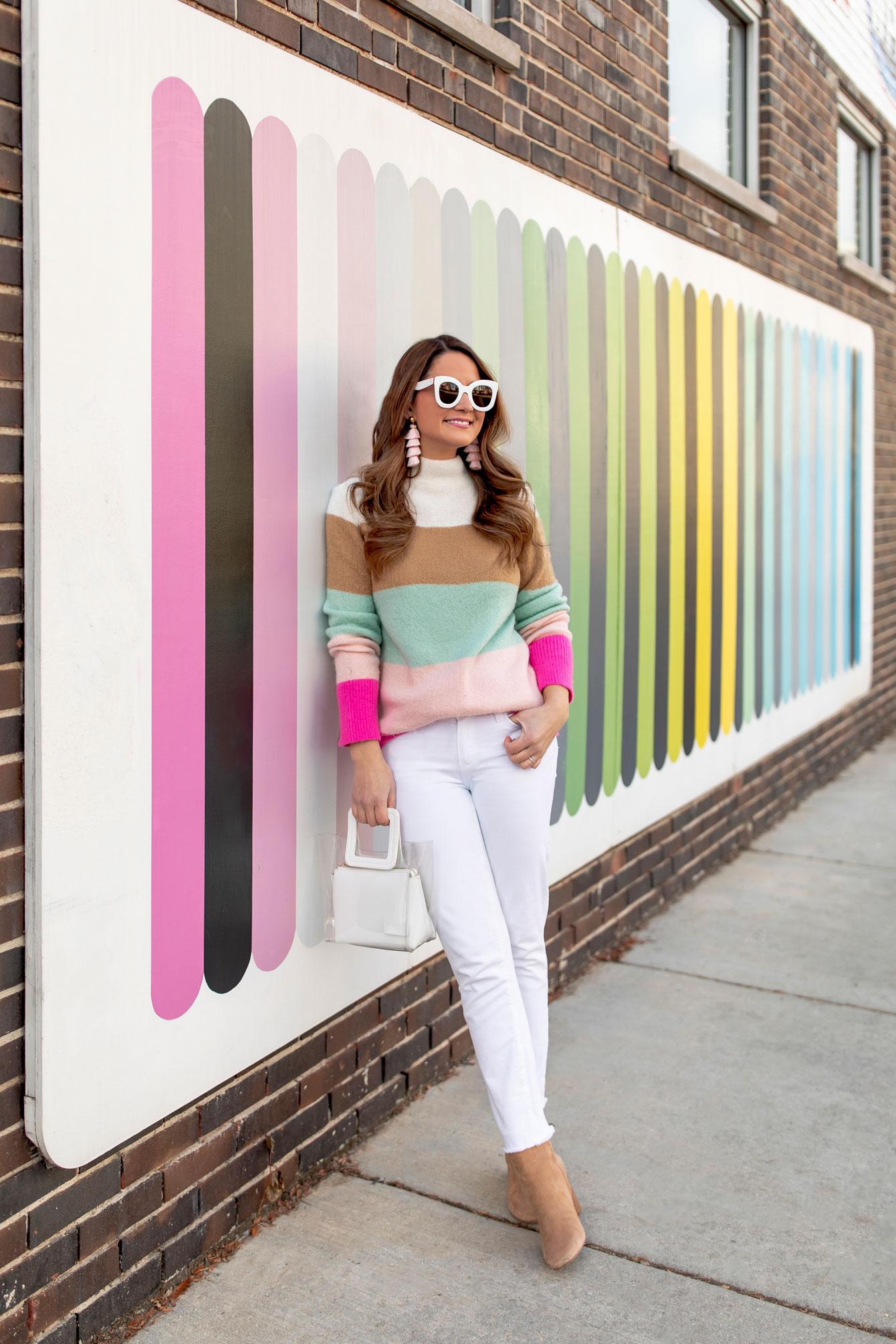 Lou and Grey Rainbow Stripe Sweater