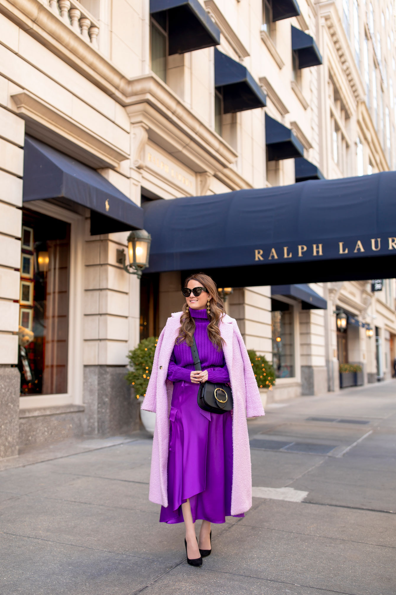 Polo Ralph Lauren Purple Wool Cashmere Turtleneck