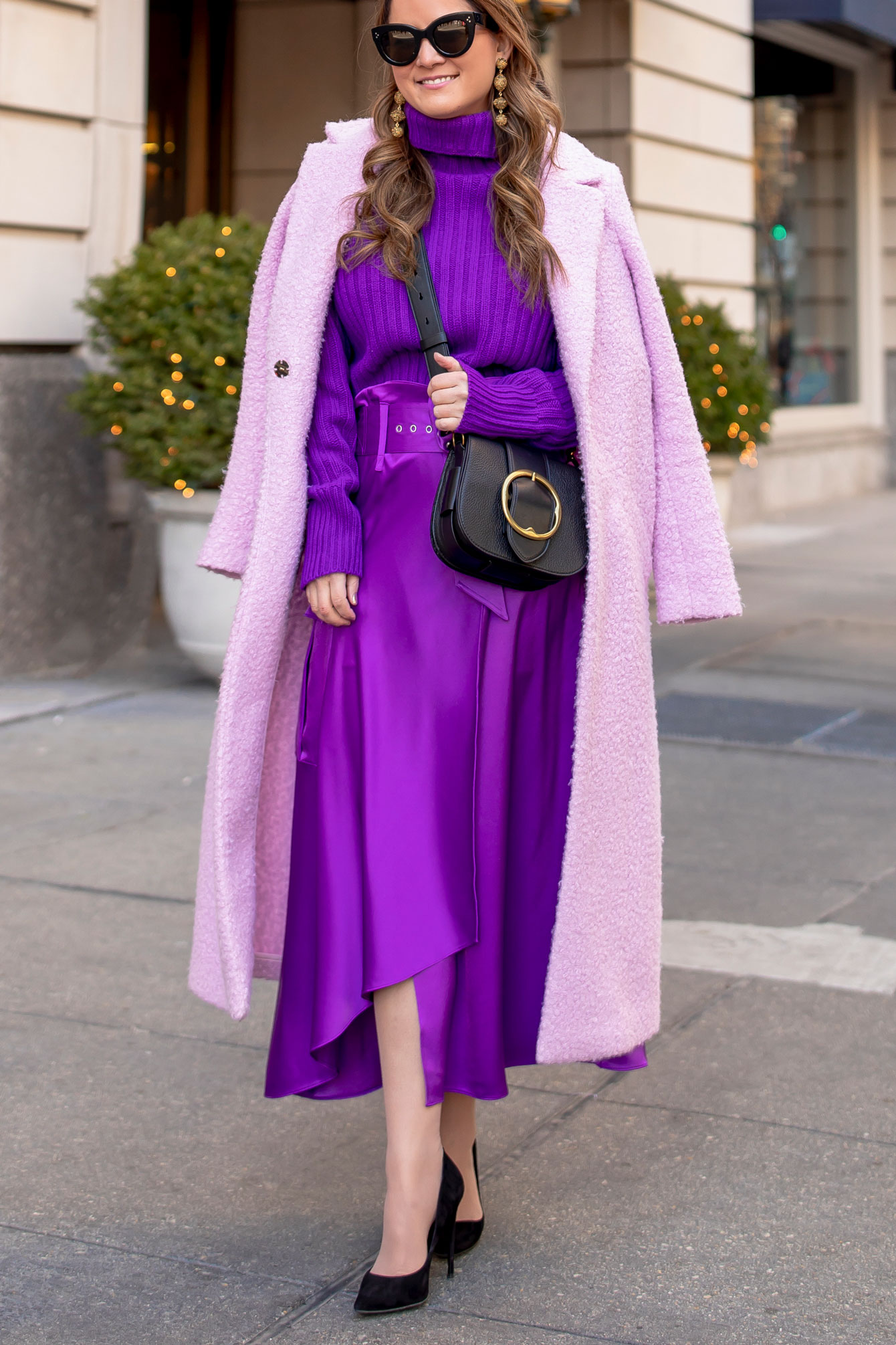 Ralph Lauren Purple Satin Skirt