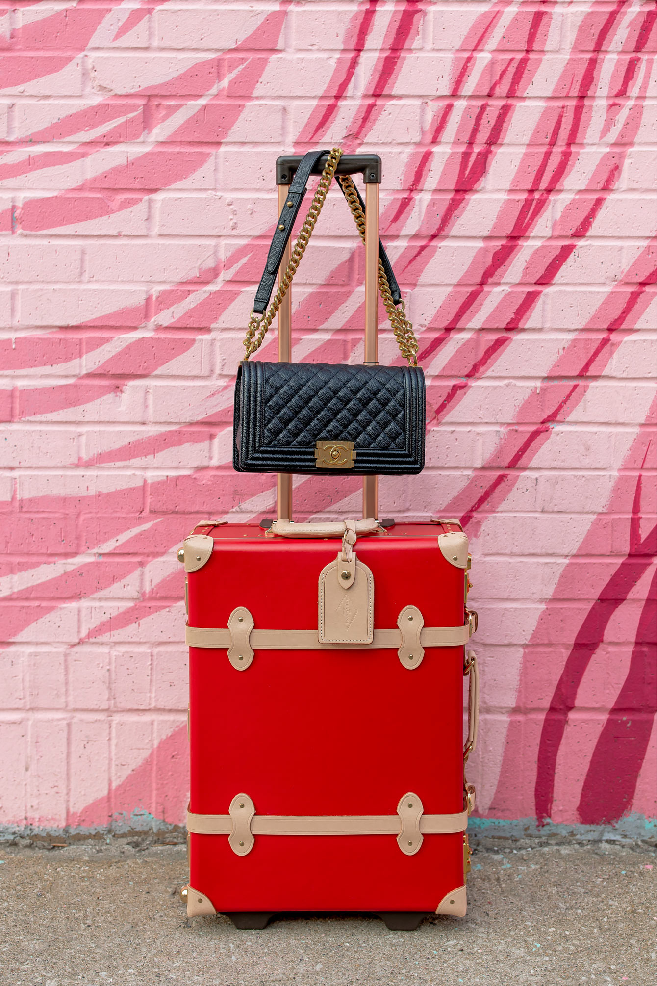 Steamline Red Luggage