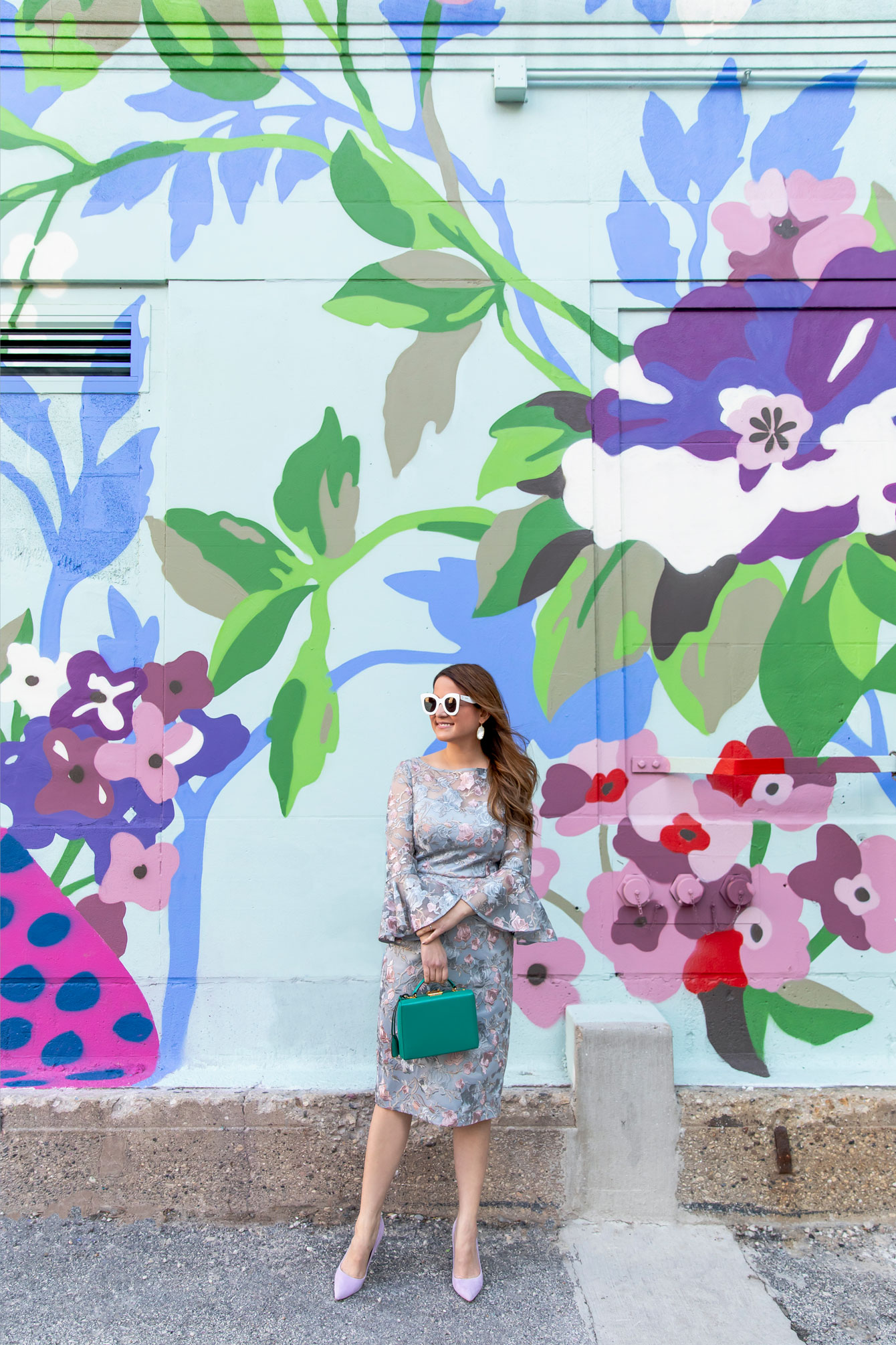 Chicago Pastel Floral Mural