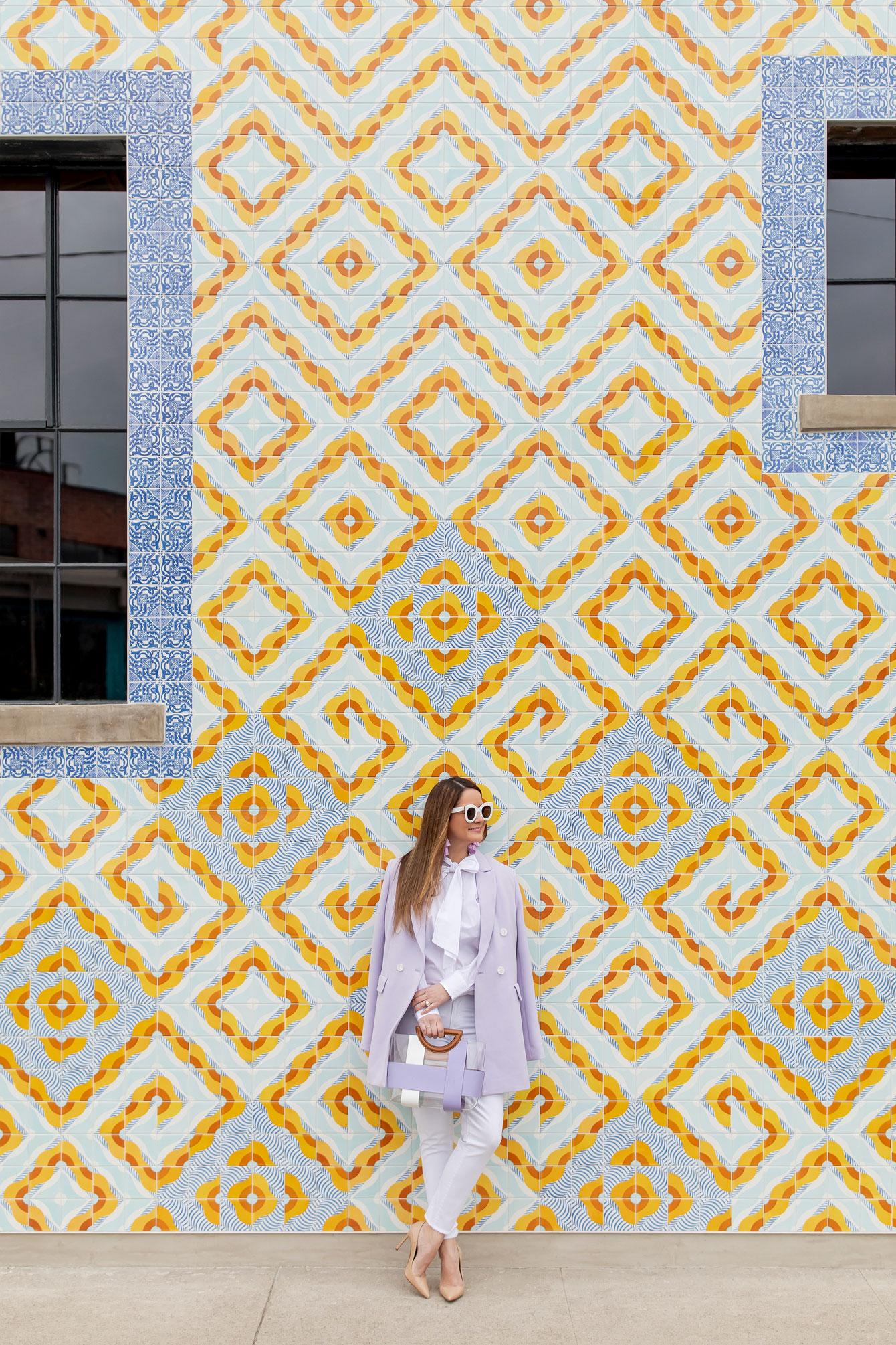 Downtown Los Angeles Colorful Tile Building