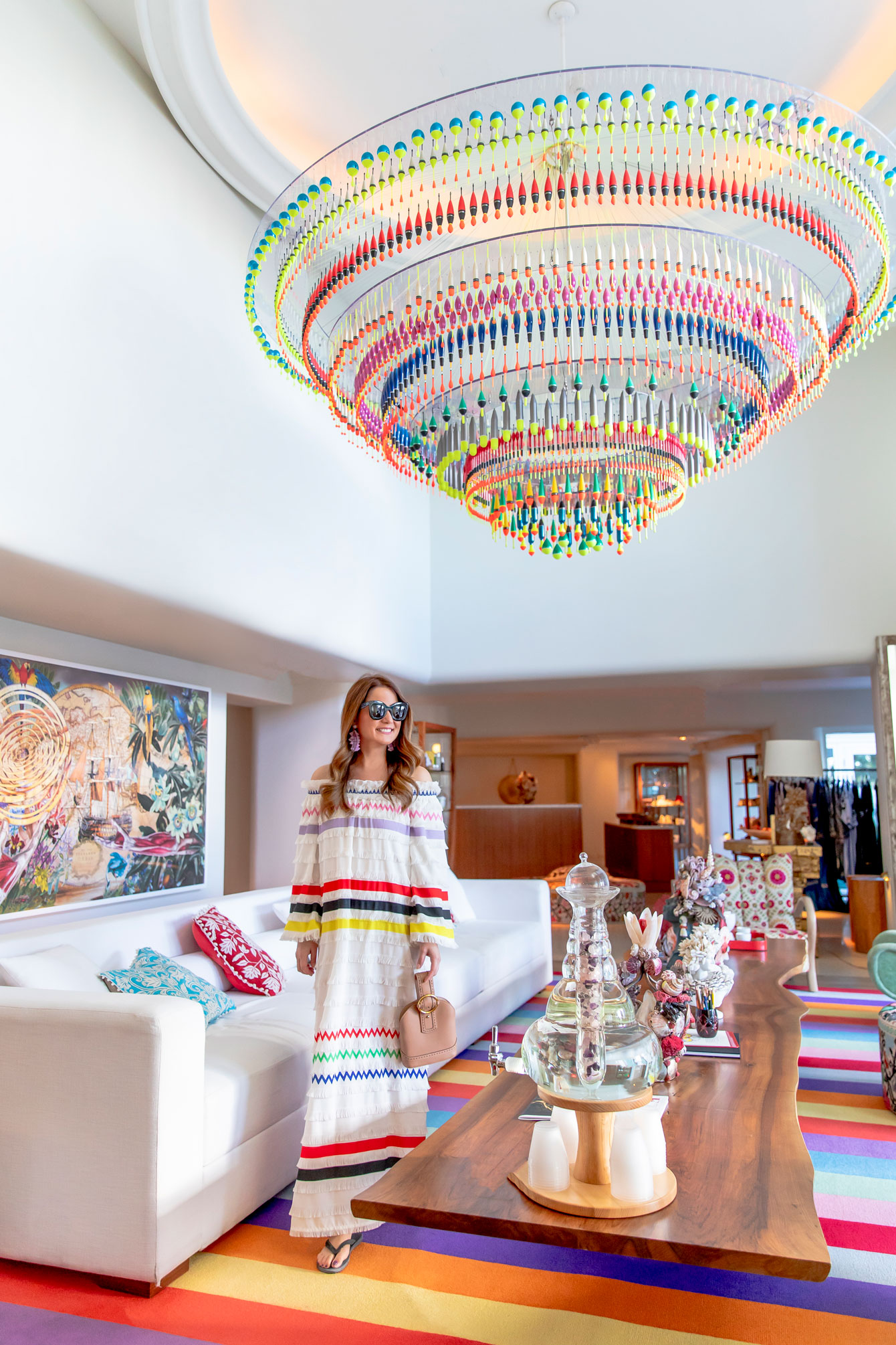 Faena Miami Beach Colorful Chandelier