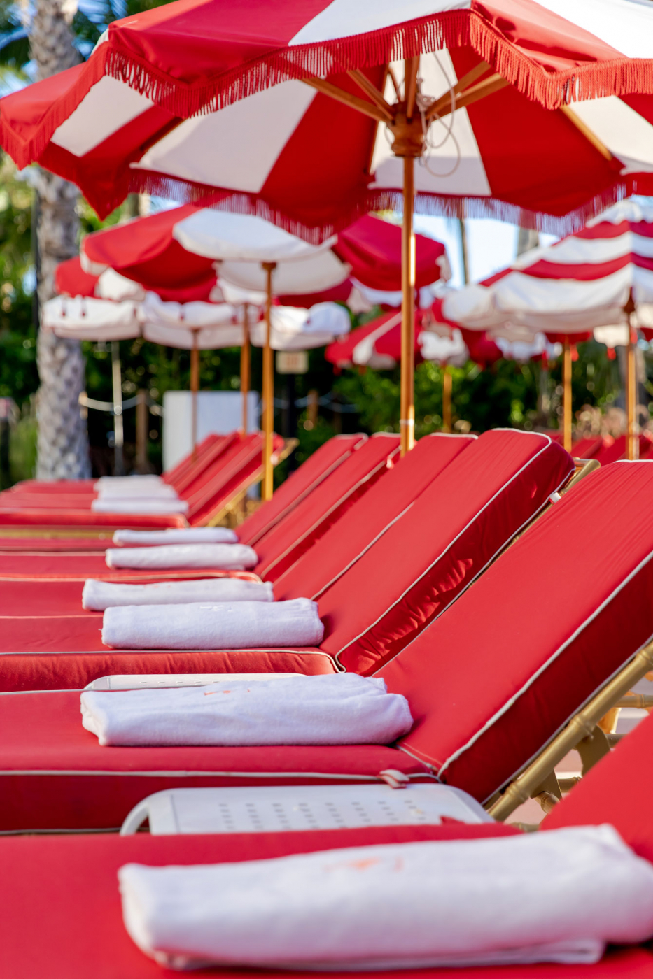 Faena Miami Beach Red Pool Chairs