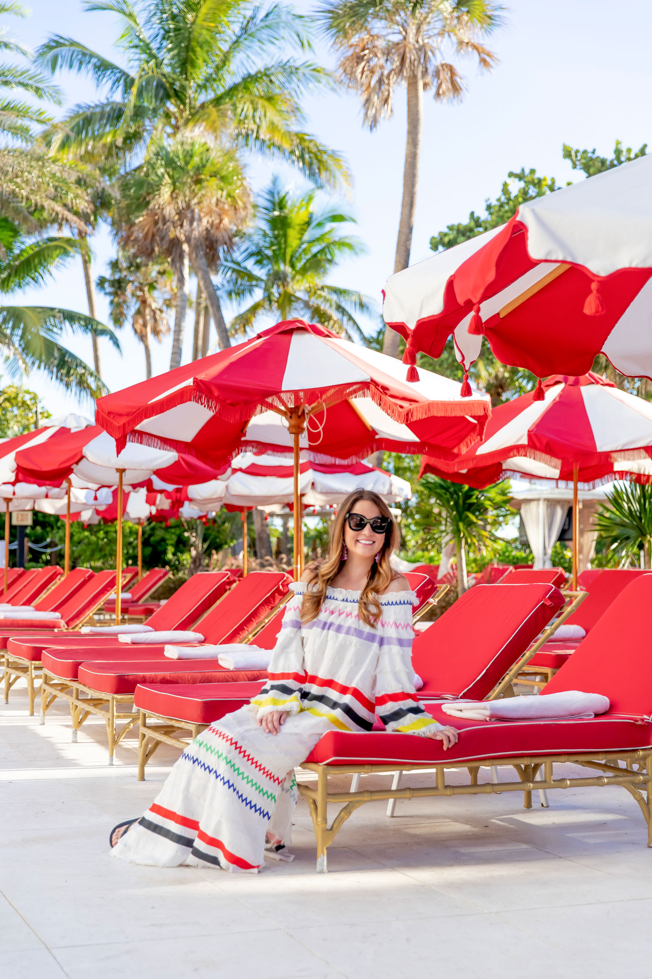 Faena Miami Beach Red Umbrellas