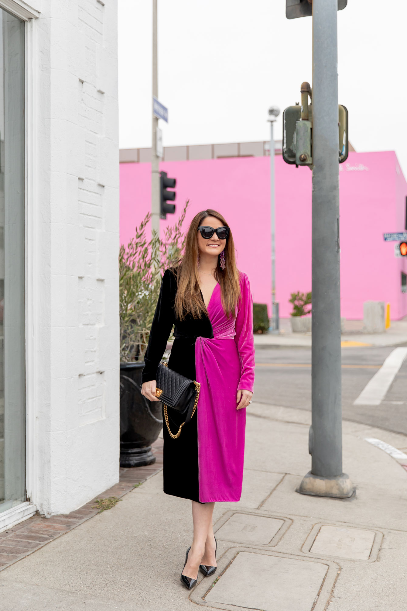 Jennifer Lake Pink Wall Los Angeles