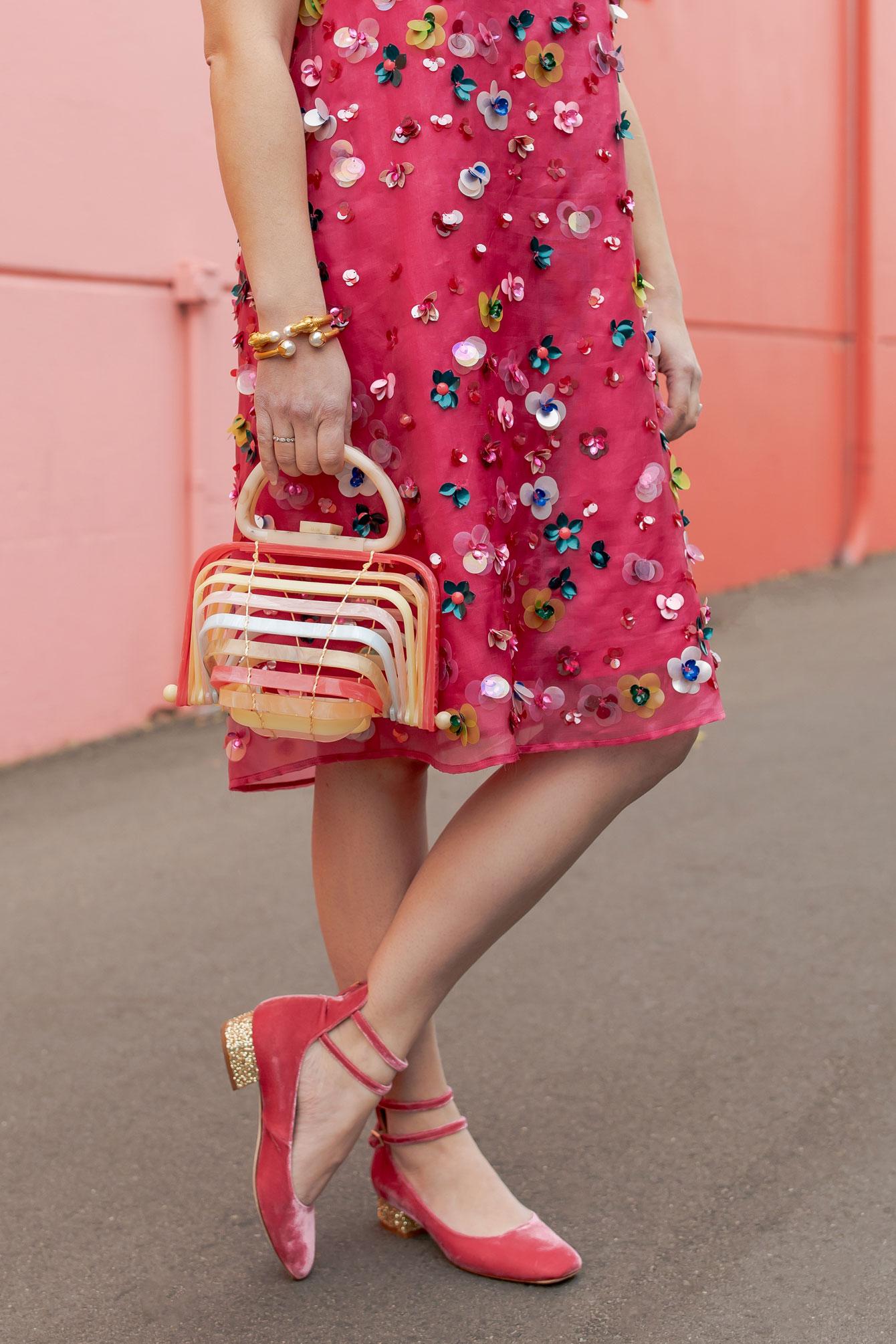 Kate Spade Pink Velvet Heels