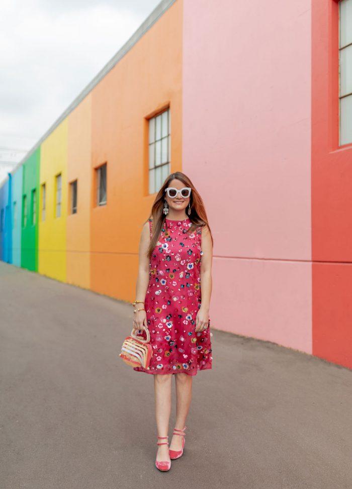 Mansur Gavriel Pink Embellished Dress in Los Angeles