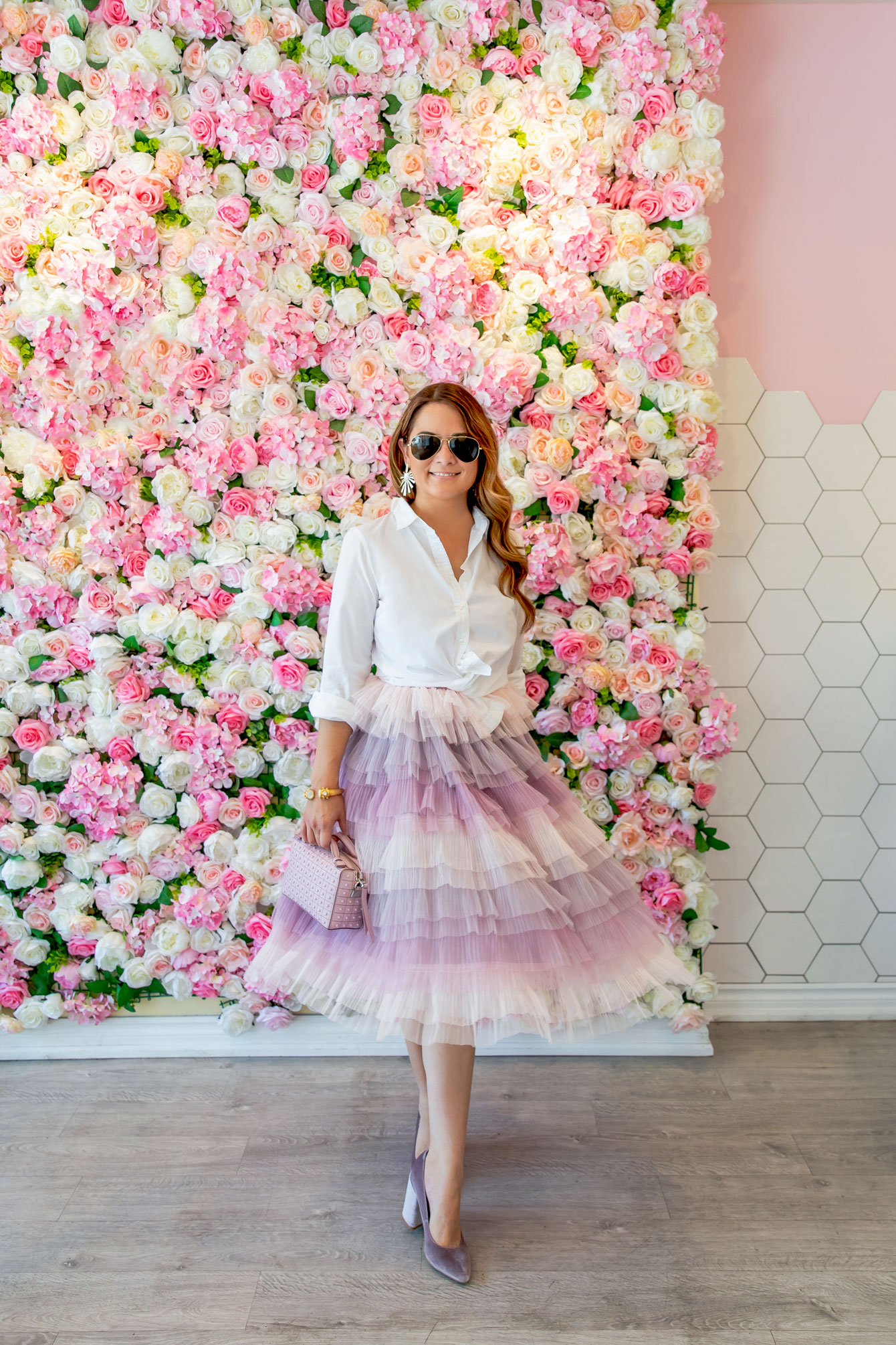Ombre Tulle Ruffle Dress
