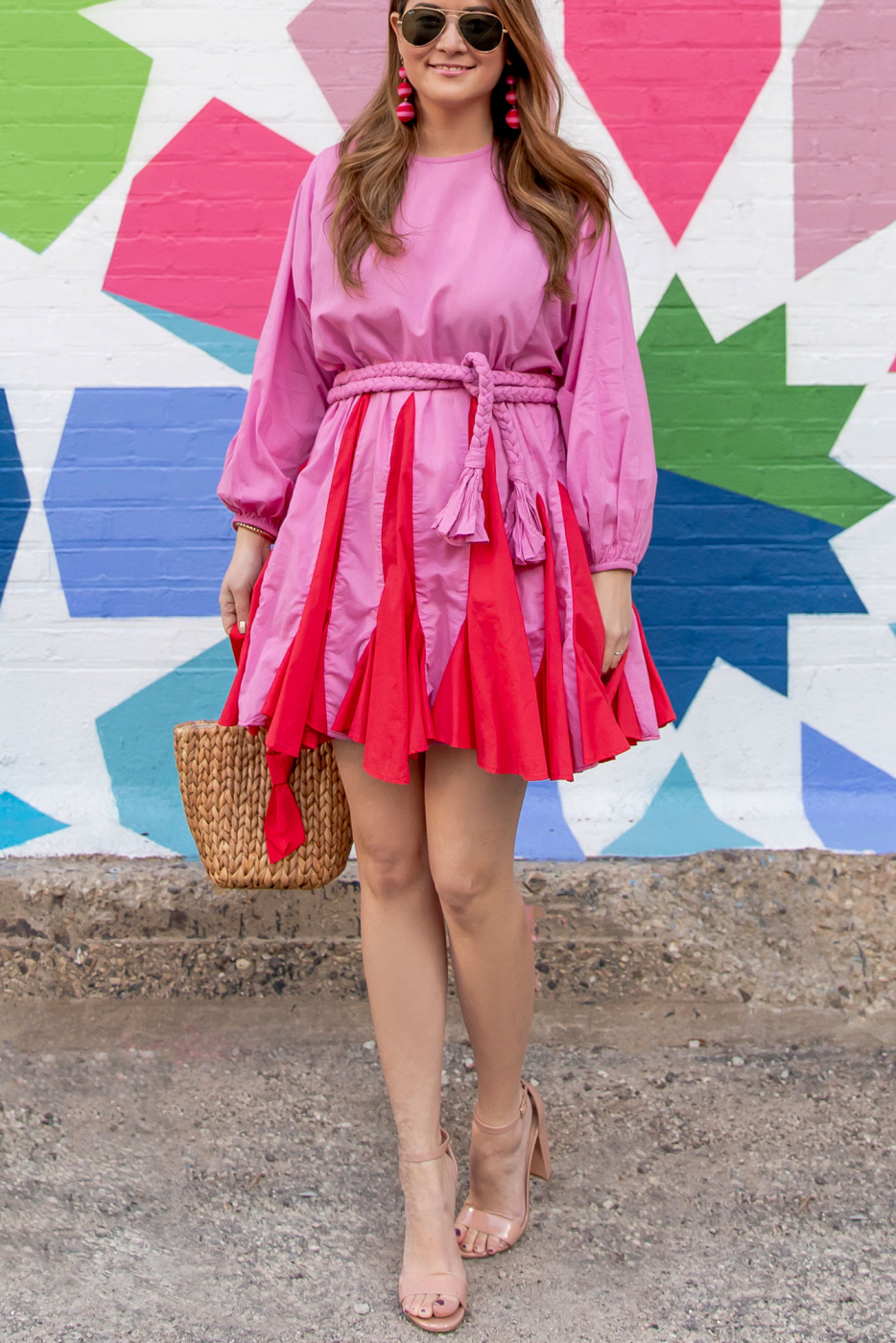 Rhode Resort Red and Pink Dress