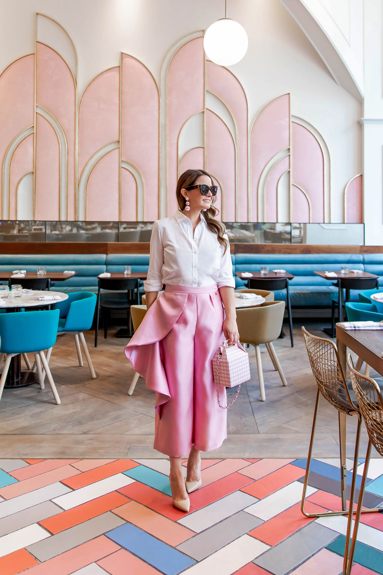 Ted Baker Pink Ruffle Pants