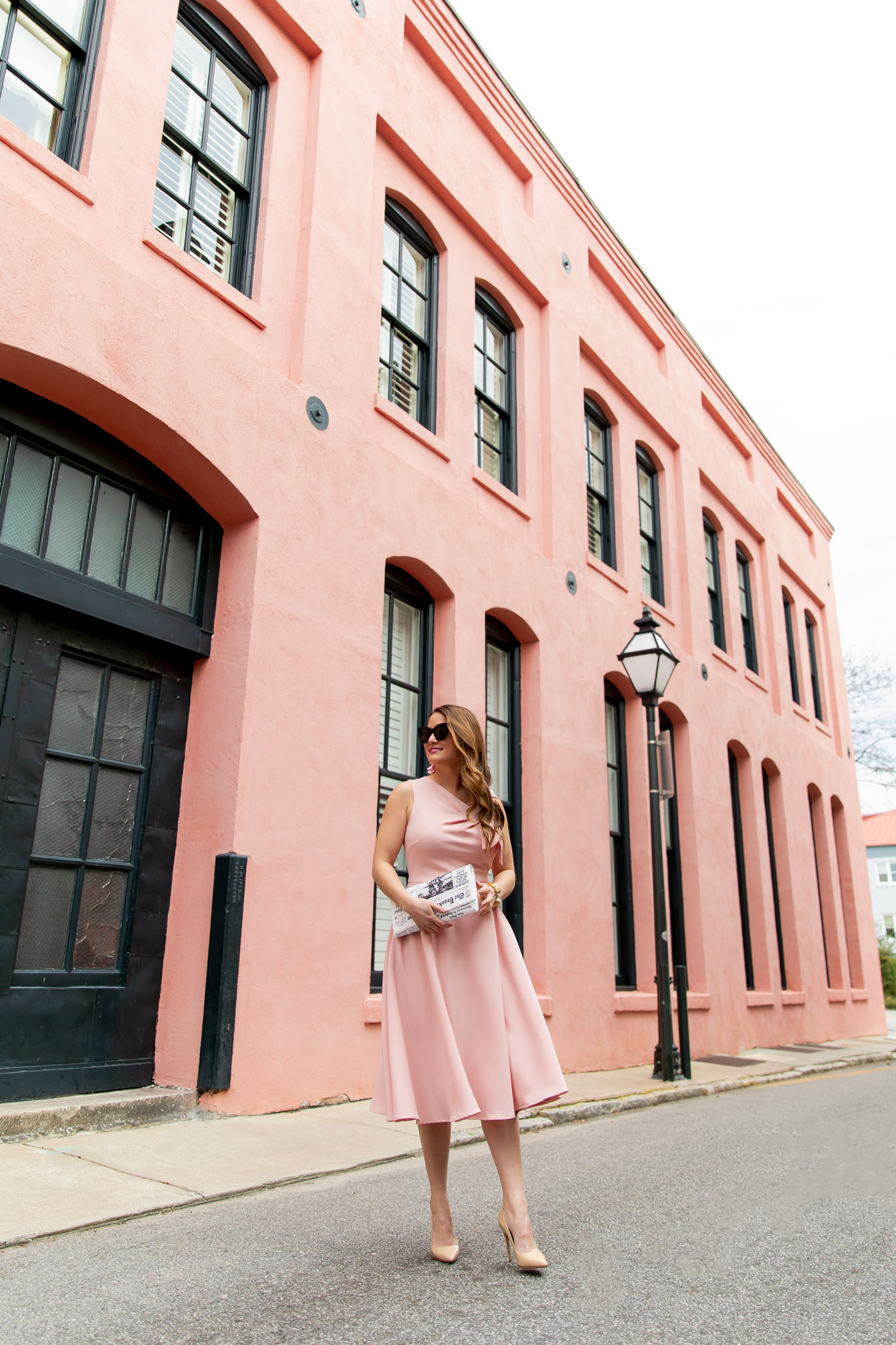 Jennifer Lake Pink Dress Charleston