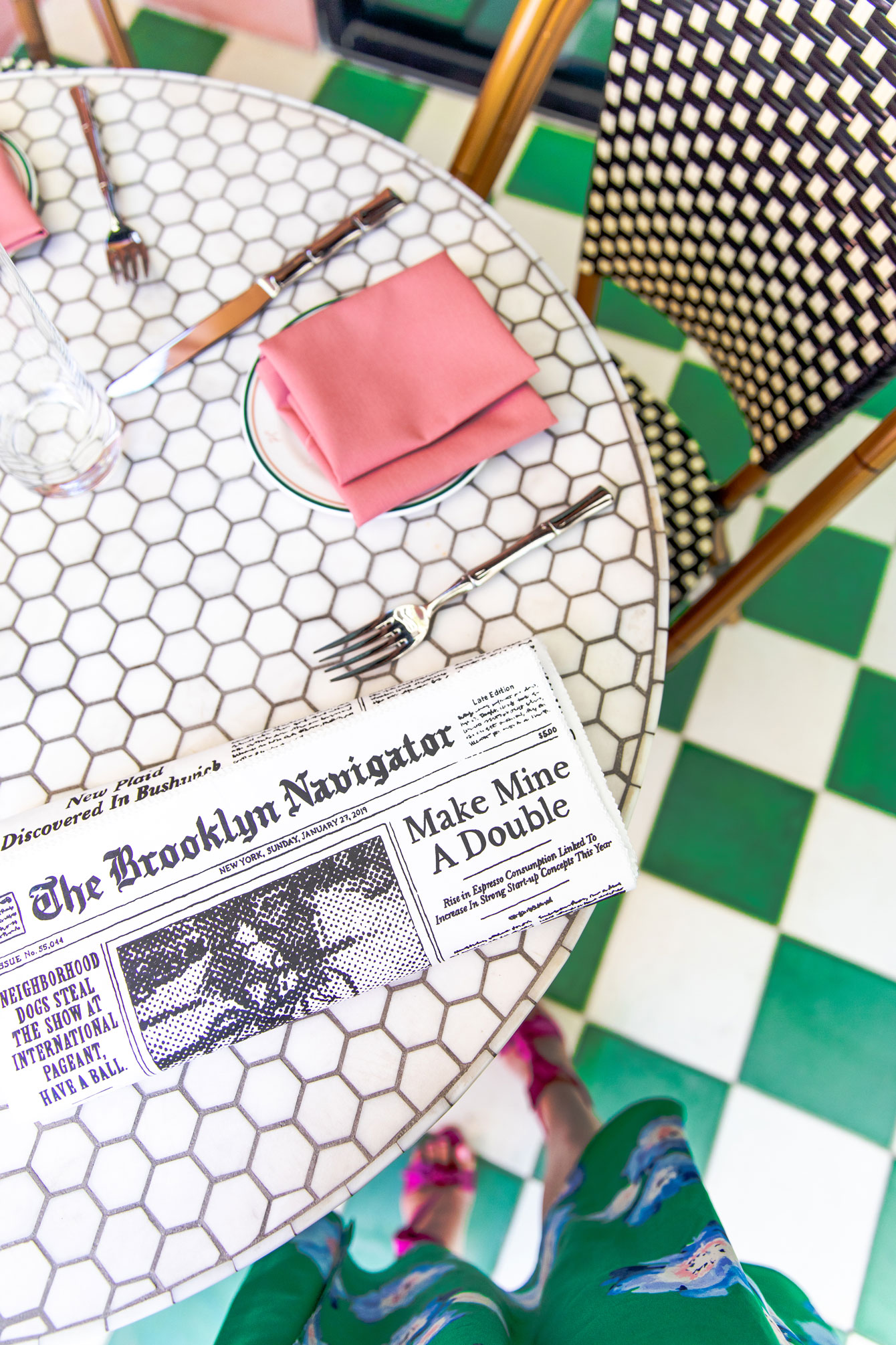 Kate Spade Brooklyn Navigator Newspaper