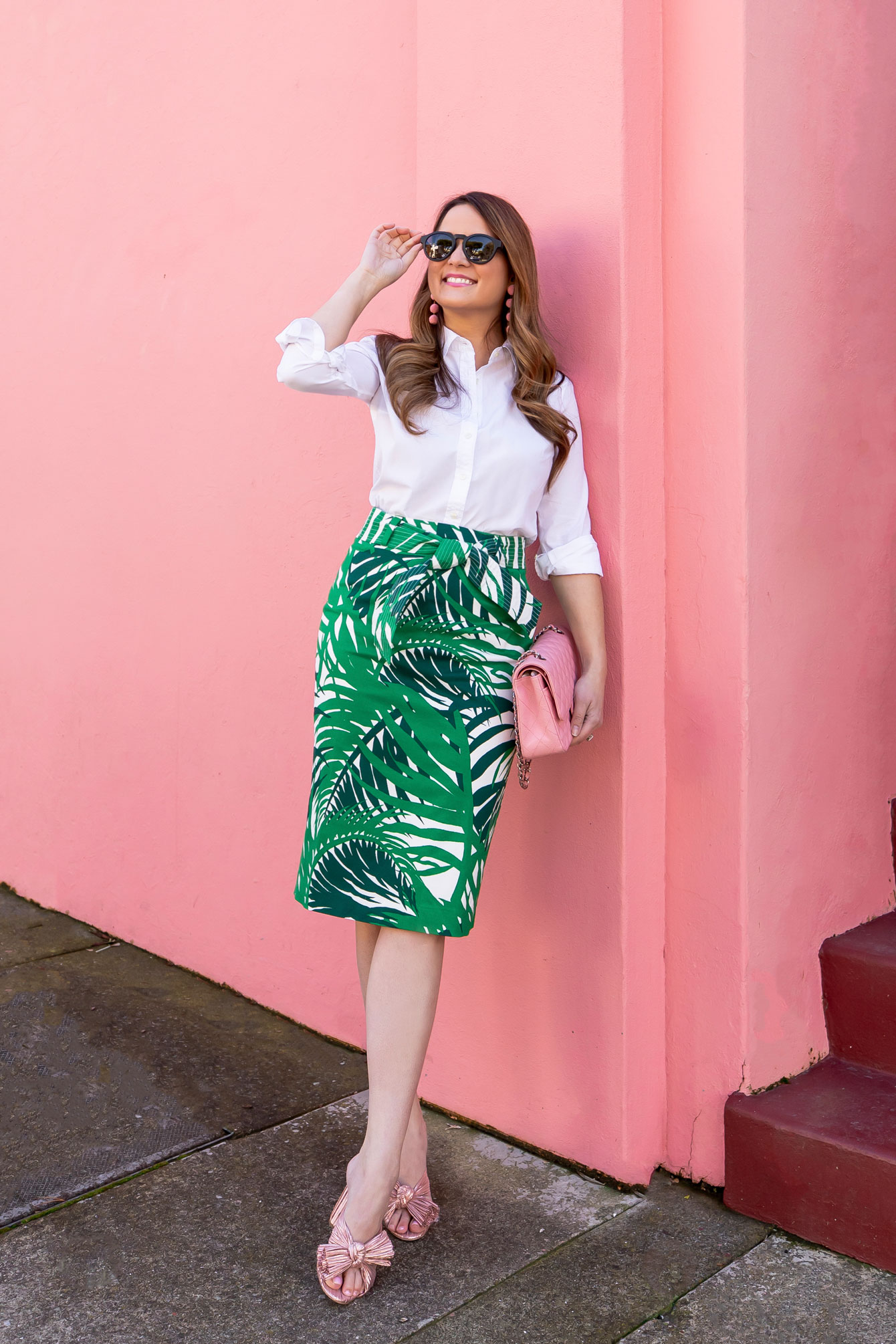 Palm Print Pencil Skirt Nordstrom
