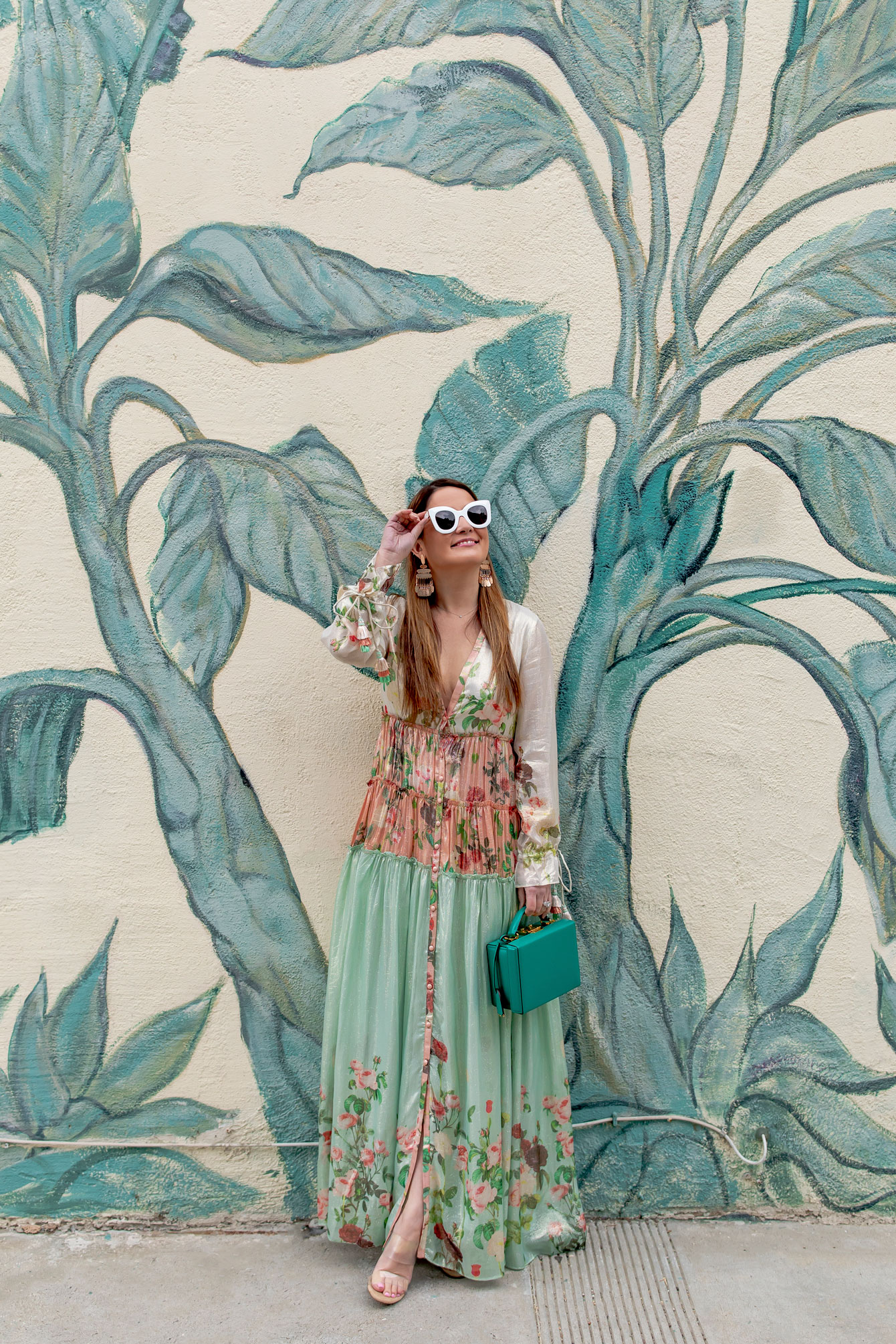 Rococo Sand Green Floral Dress