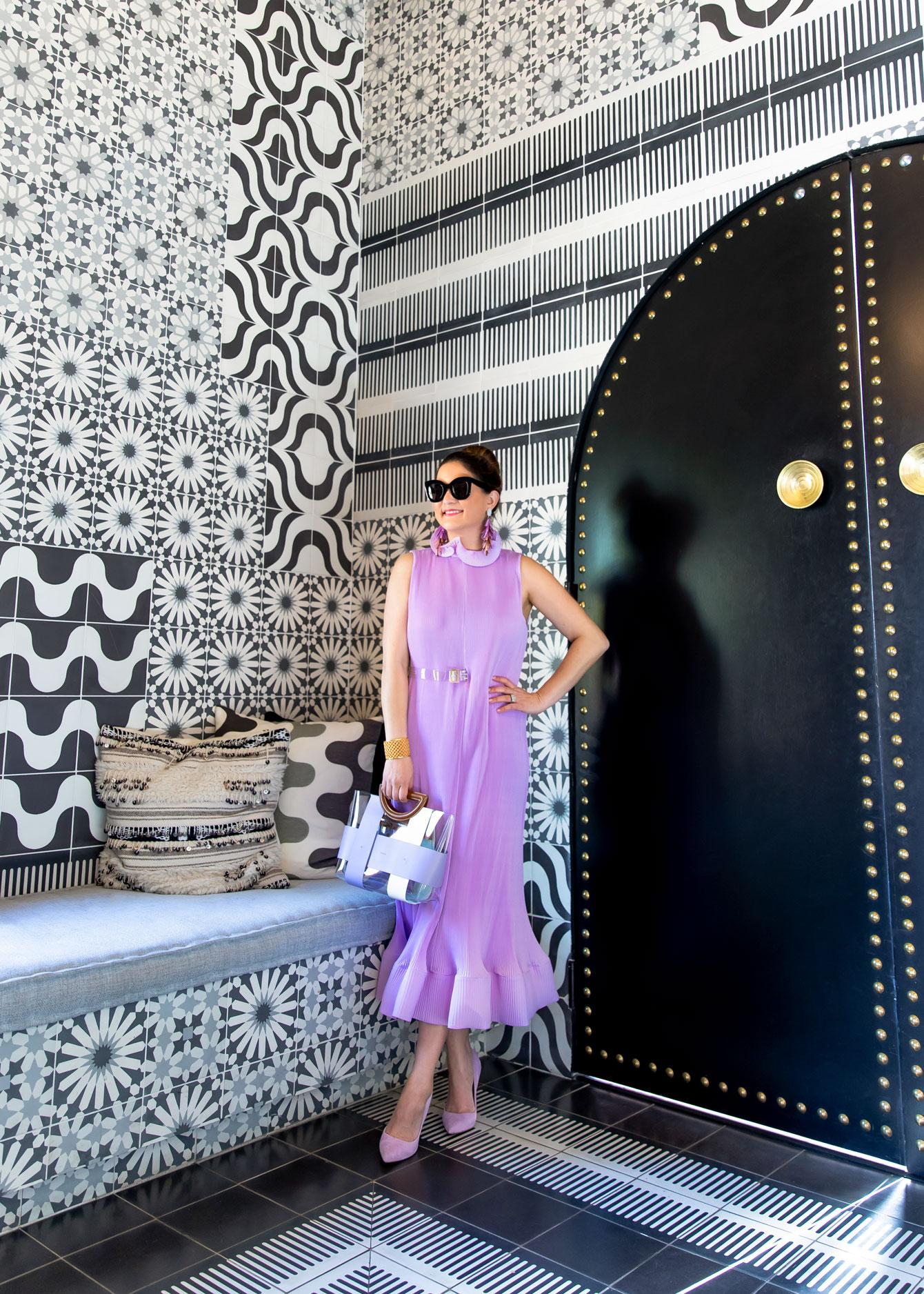 Tibi Lavender Plisse Dress