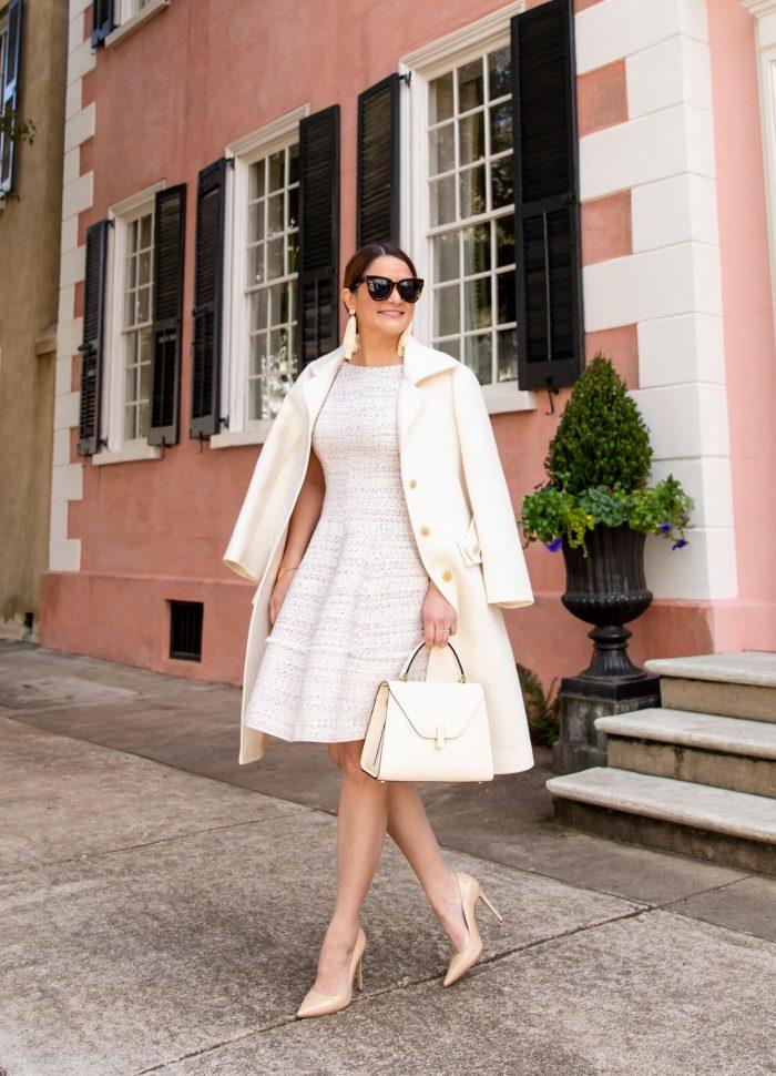 Harper Rose Tweed Dress in Charleston