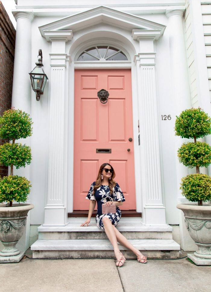 The Cutest Pink Door in Charleston