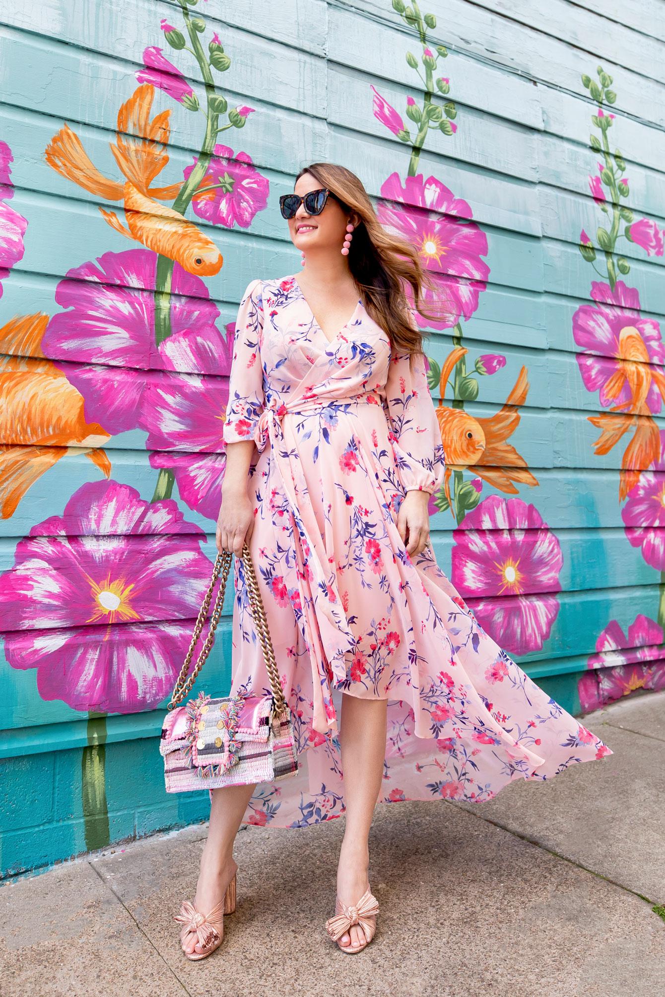 Eliza J Pink Floral Maxi Dress
