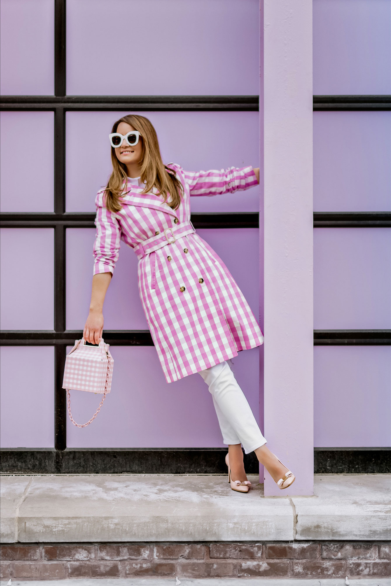 J Crew Gingham Trench