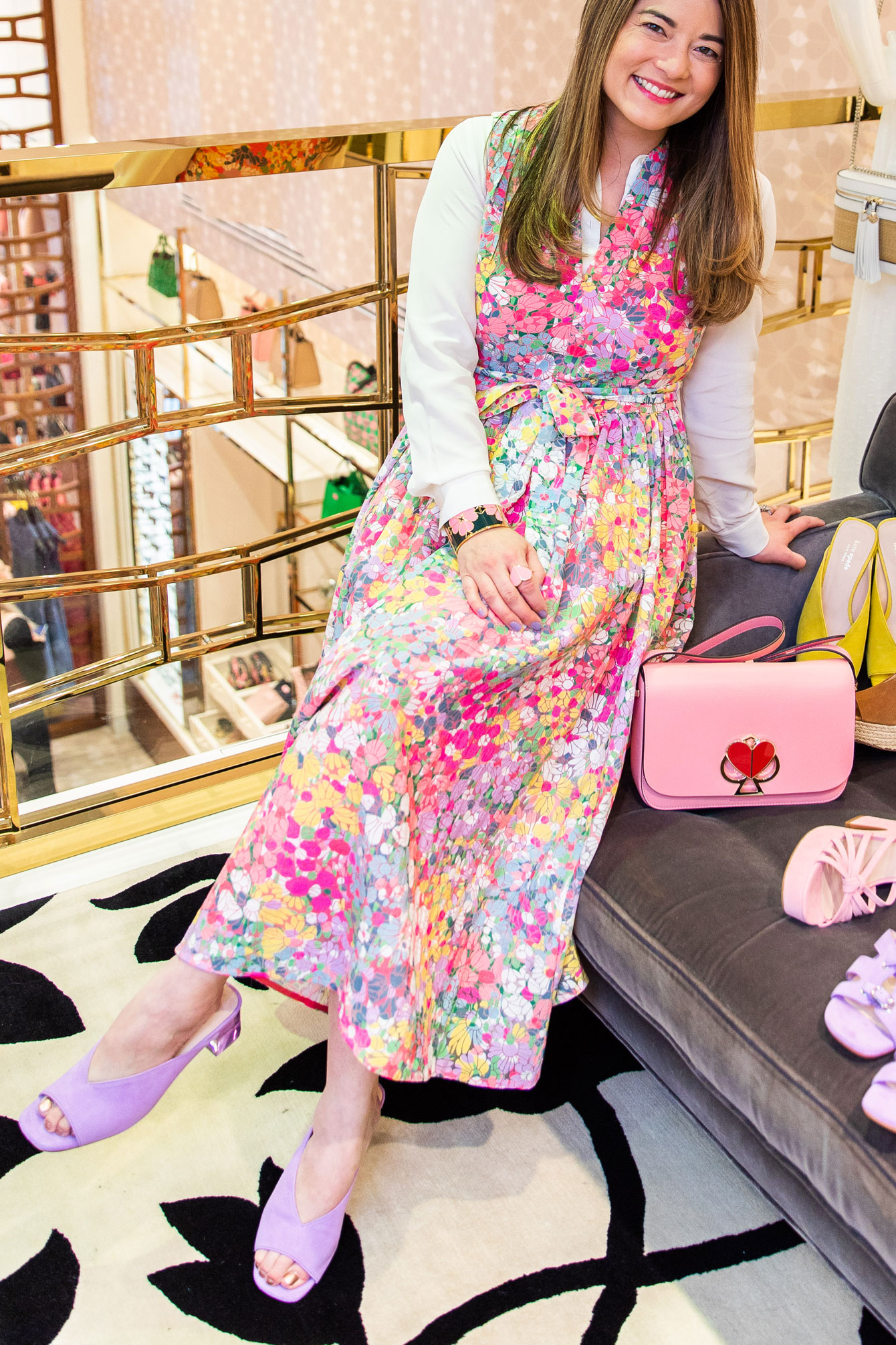 Jennifer Lake Kate Spade Pastel Floral Dress