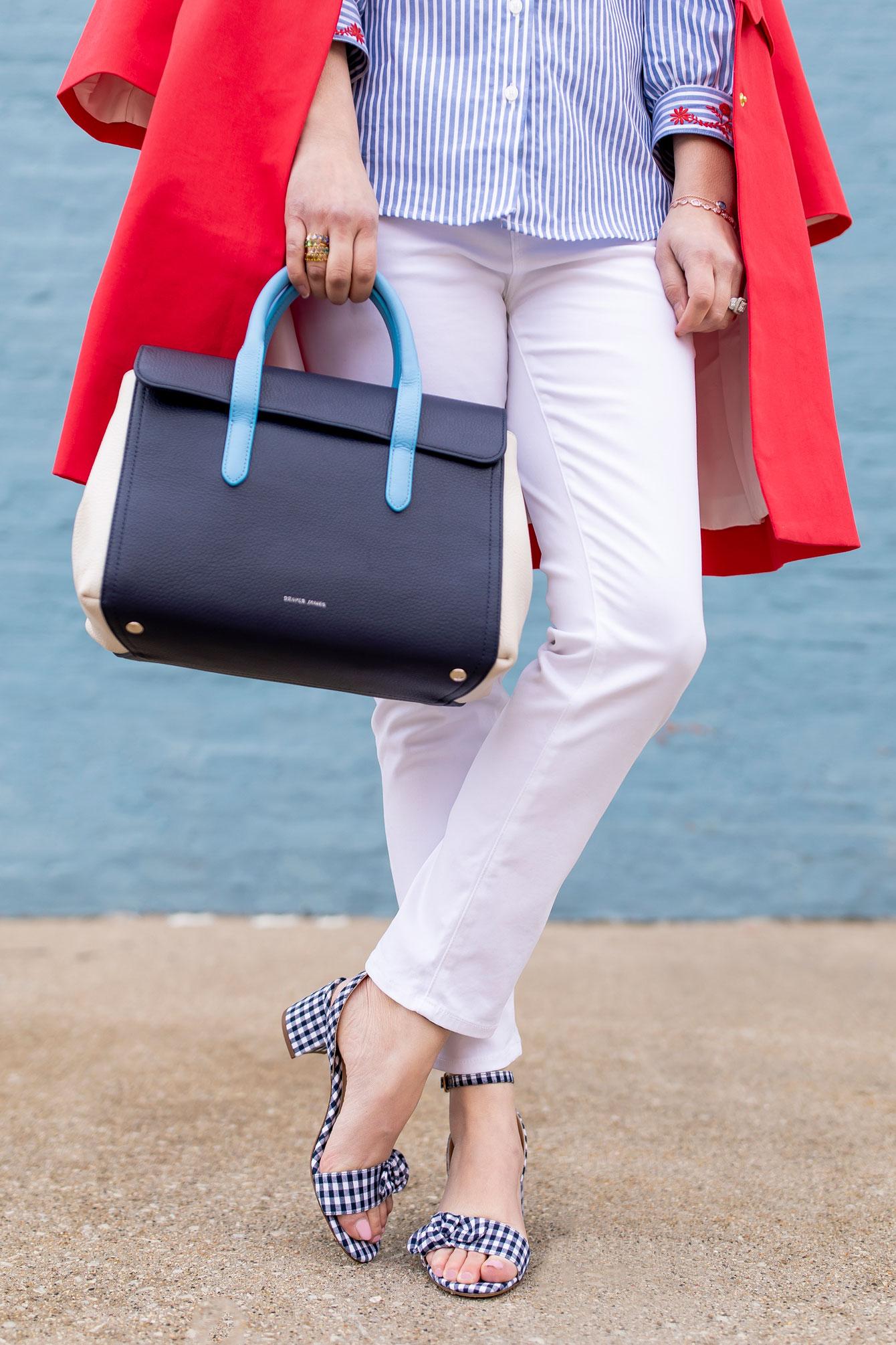 M Gemi Gingham Sandals