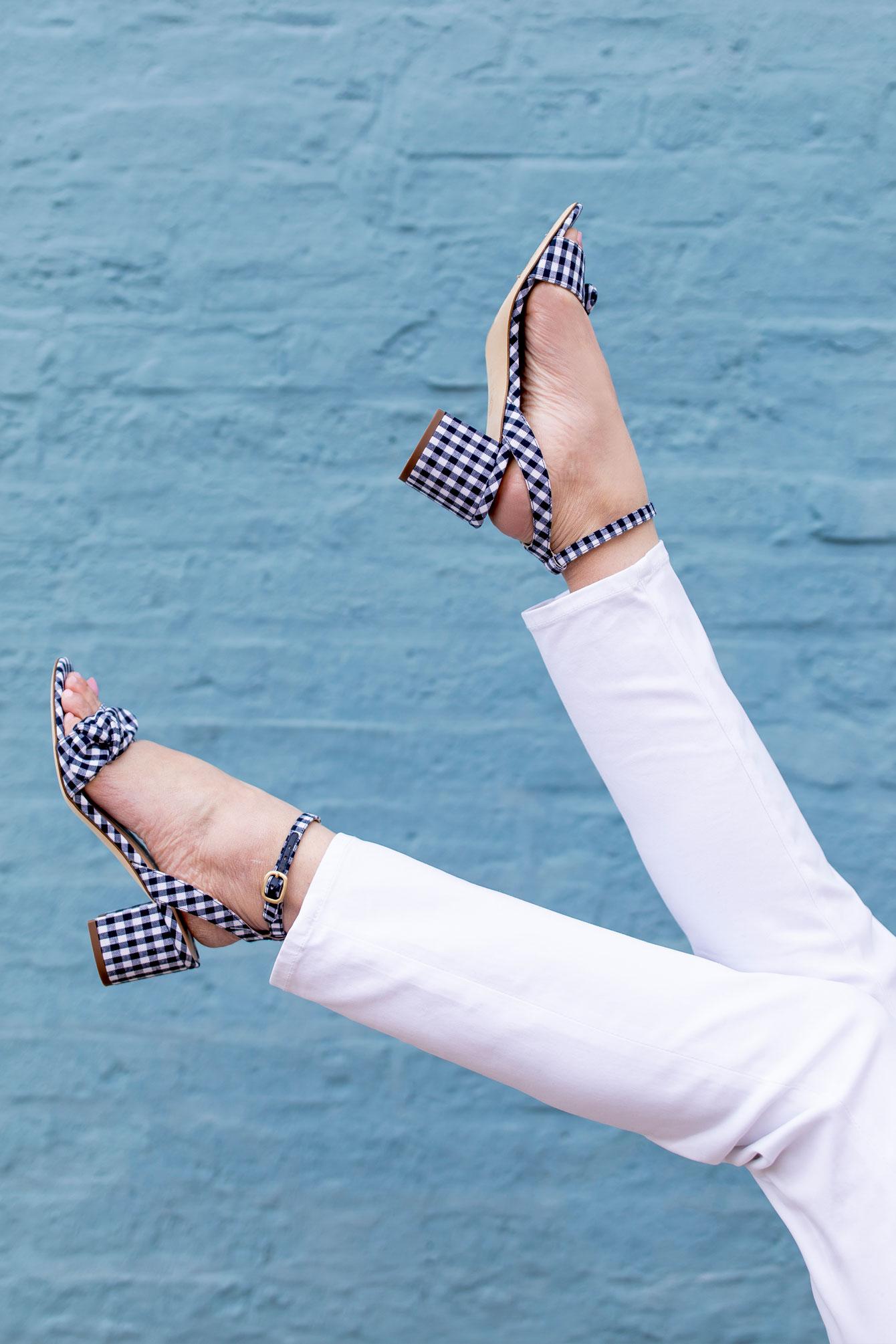 M Gemi Risata Gingham Sandals