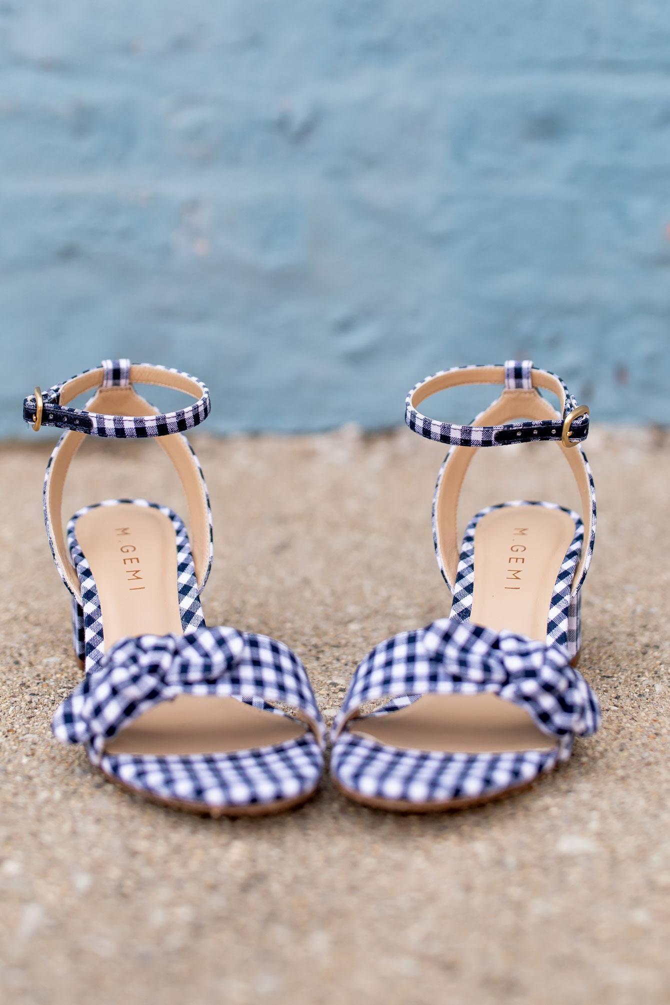 M Gemi x Draper James Gingham Sandals