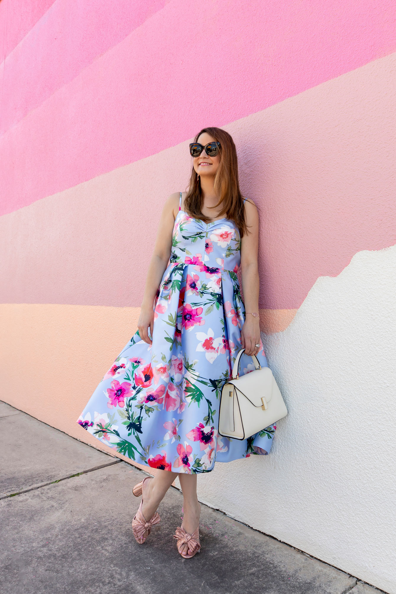 Eliza J Floral Cocktail Dress