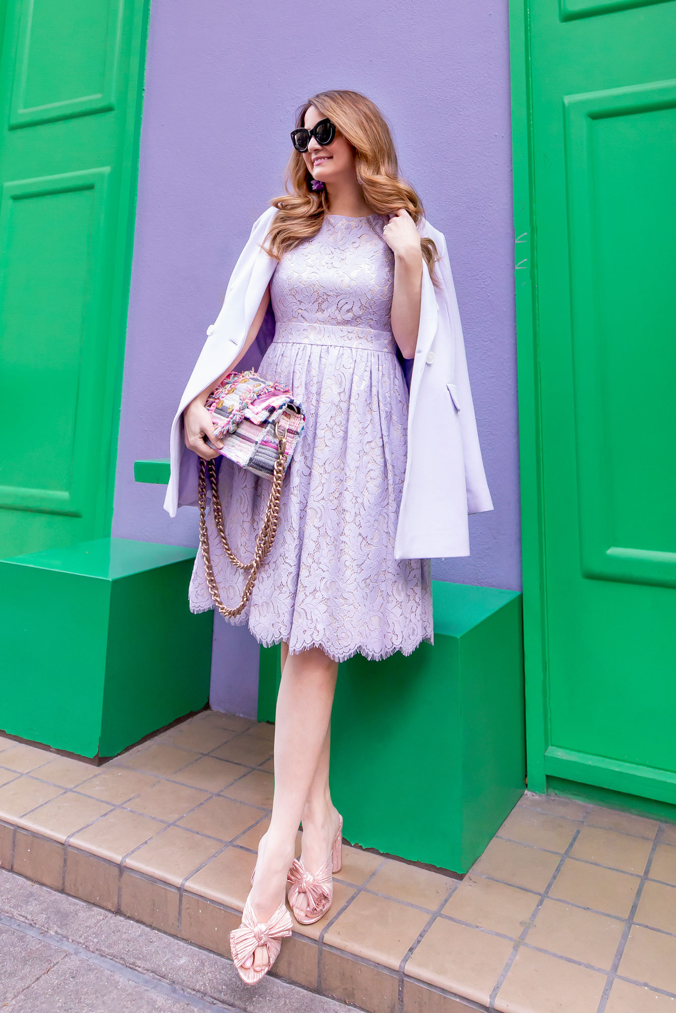 Lilac Fit and Flare Dress