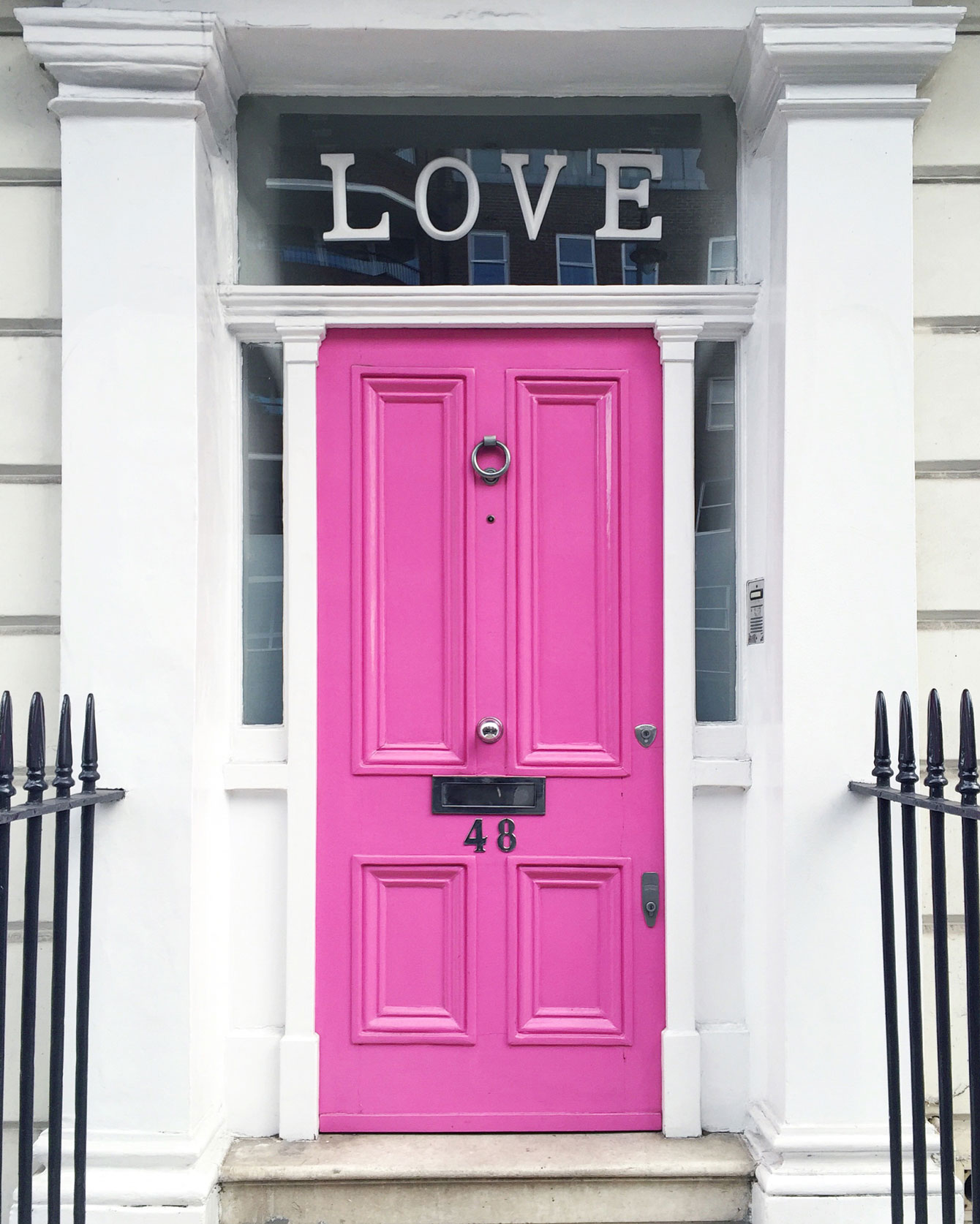 London Pink Love Door