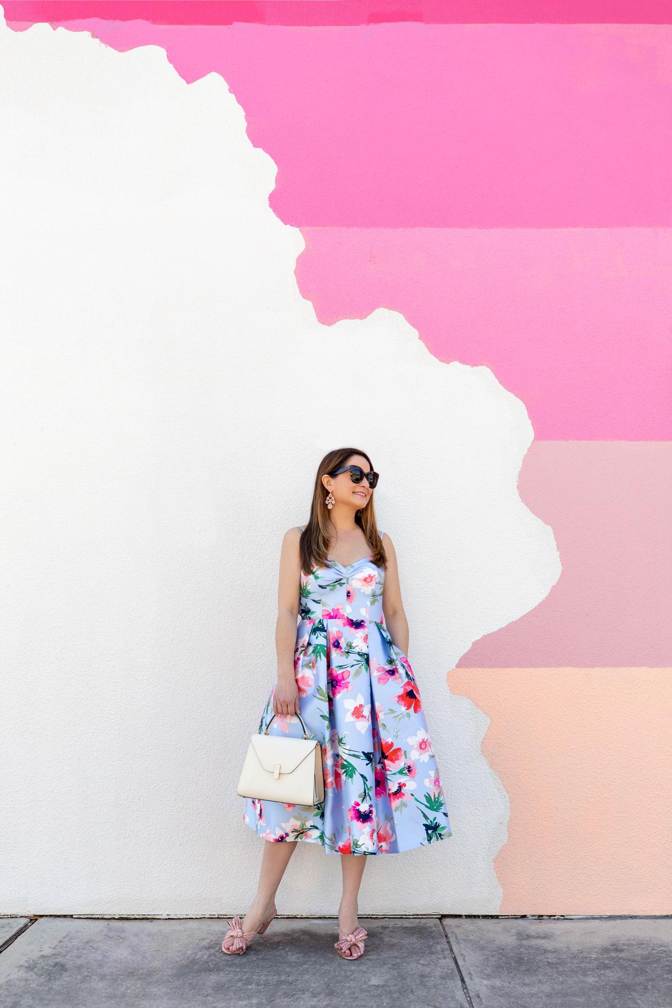 Multicolor Pink Stripe Mural Austin