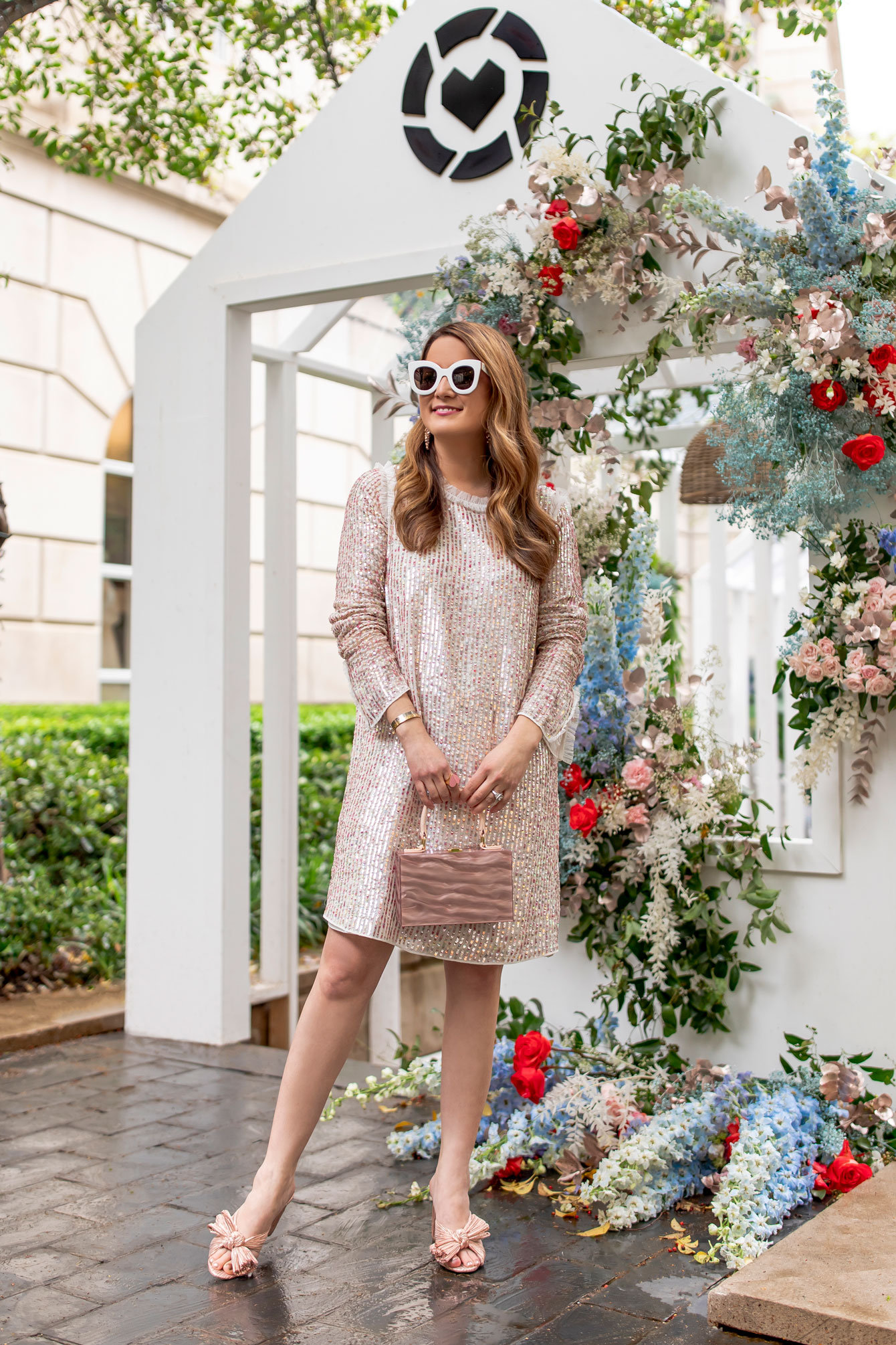 Needle Thread Rose Gold Sequin Dress
