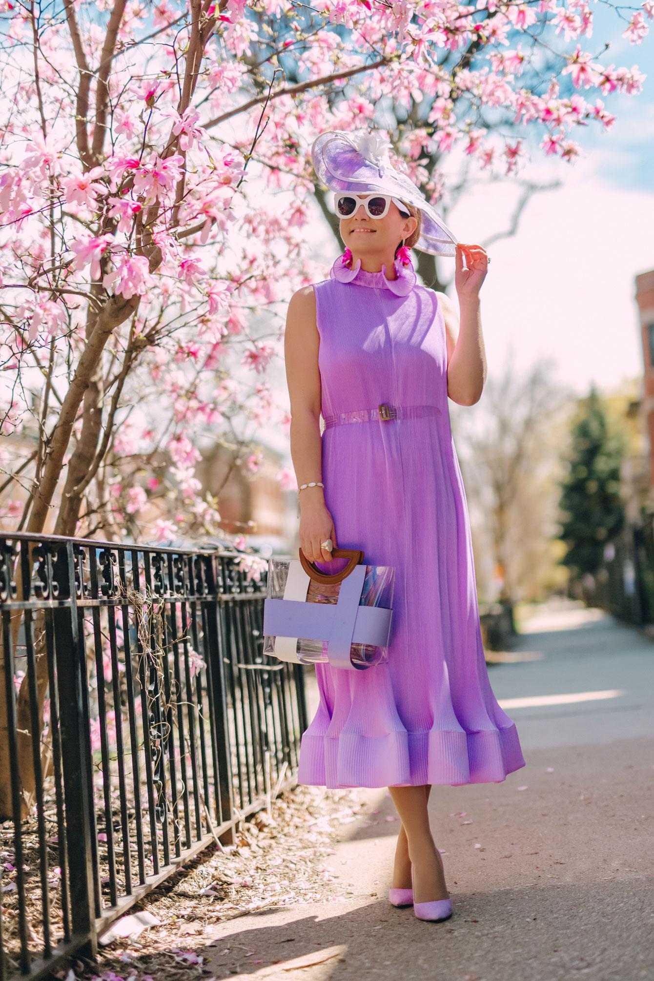 Style Charade Lilac Tibi Plisse Dress