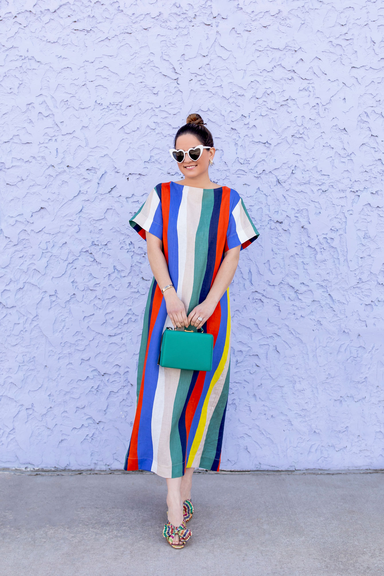 WHIT Rainbow Stripe Dress