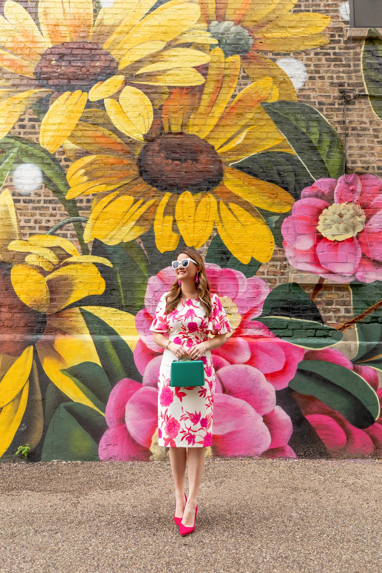Daisy Floral Mural Chicago West Town