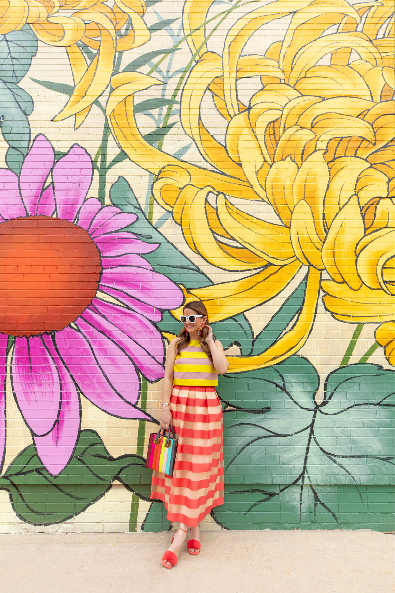 Jennifer Lake Floral Mural Chicago