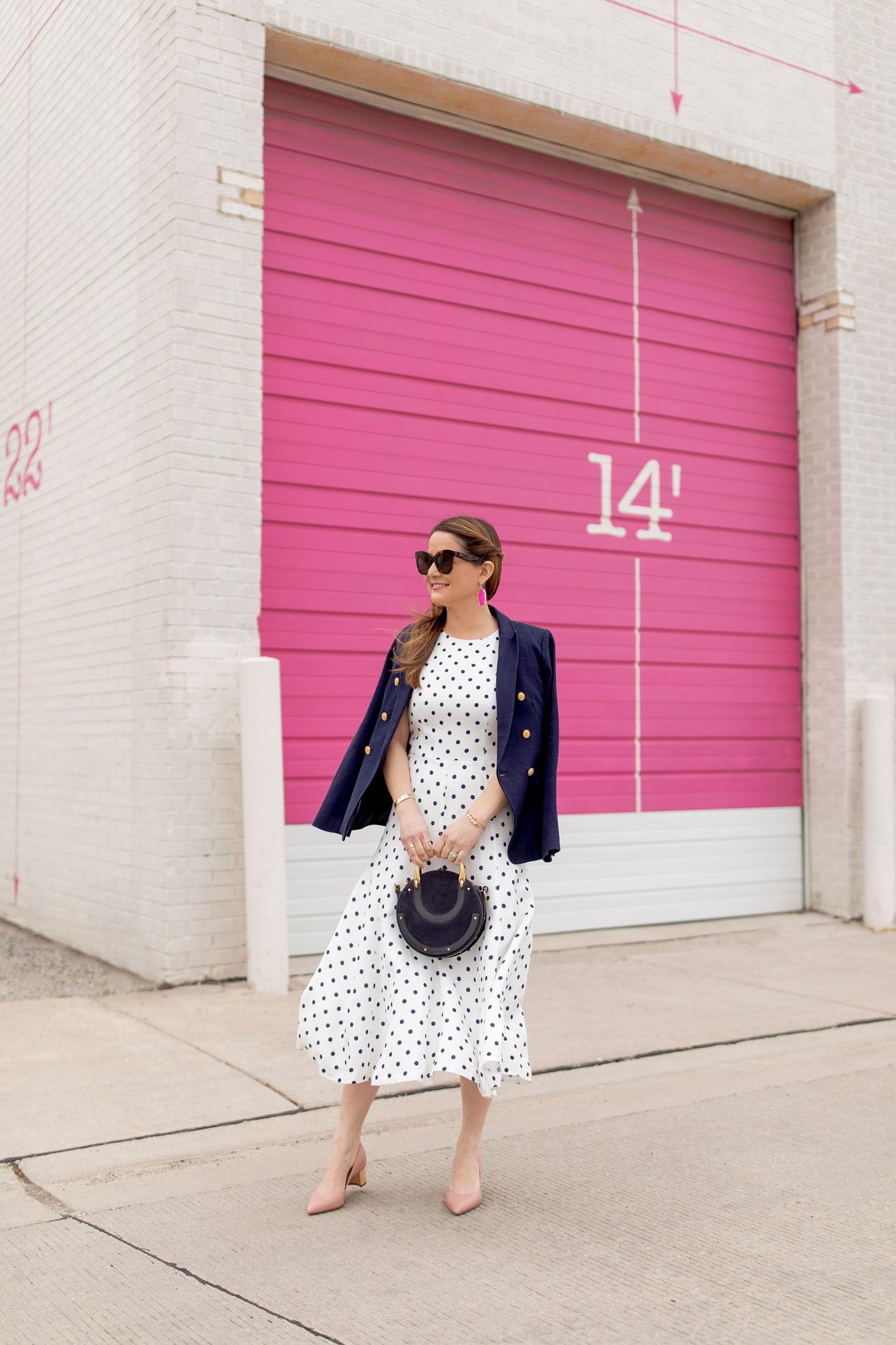 Jennifer Lake Polka Dot Dress