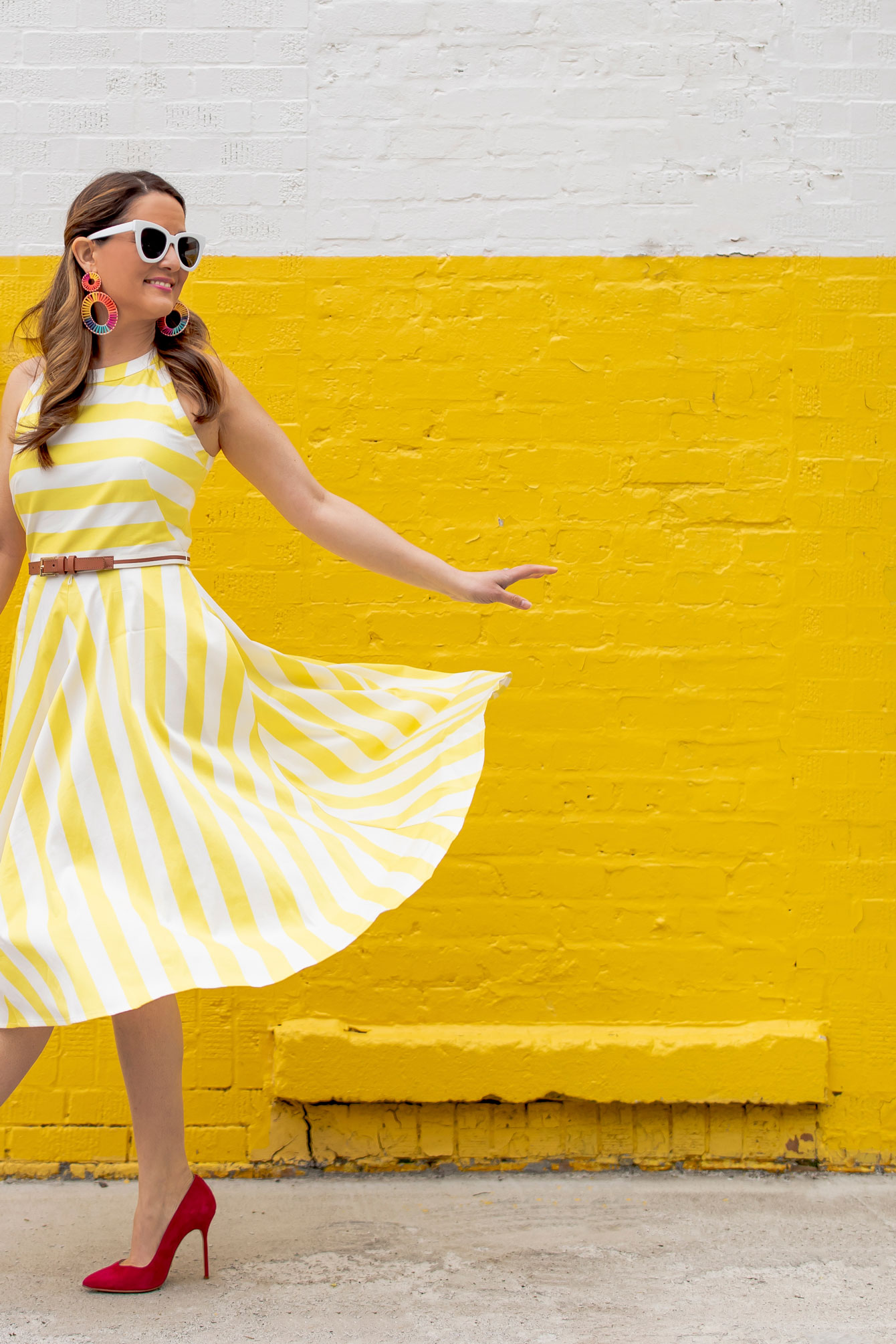 Nordstrom Yellow Stripe Dress