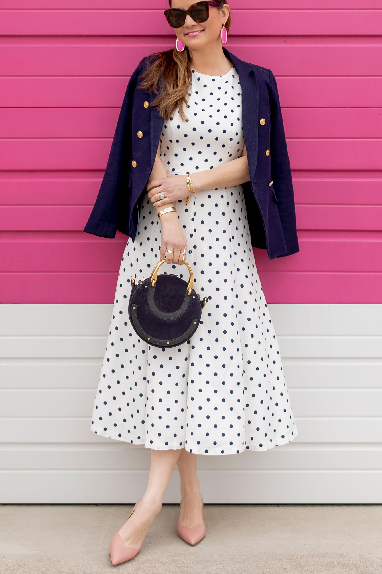 Polka Dot Midi Flare Dress