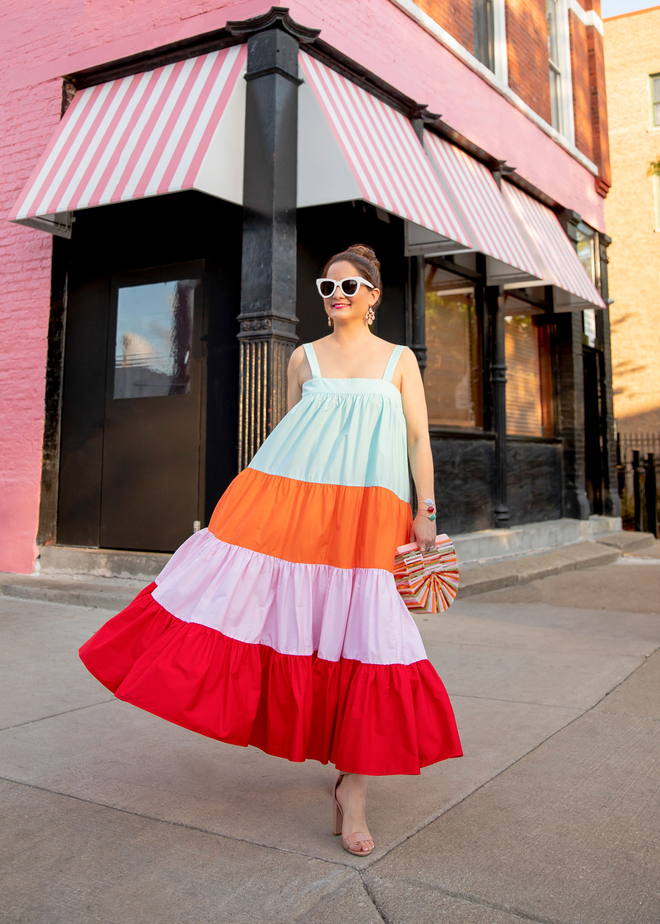 Rainbow Stripe Dress Jennifer Lake