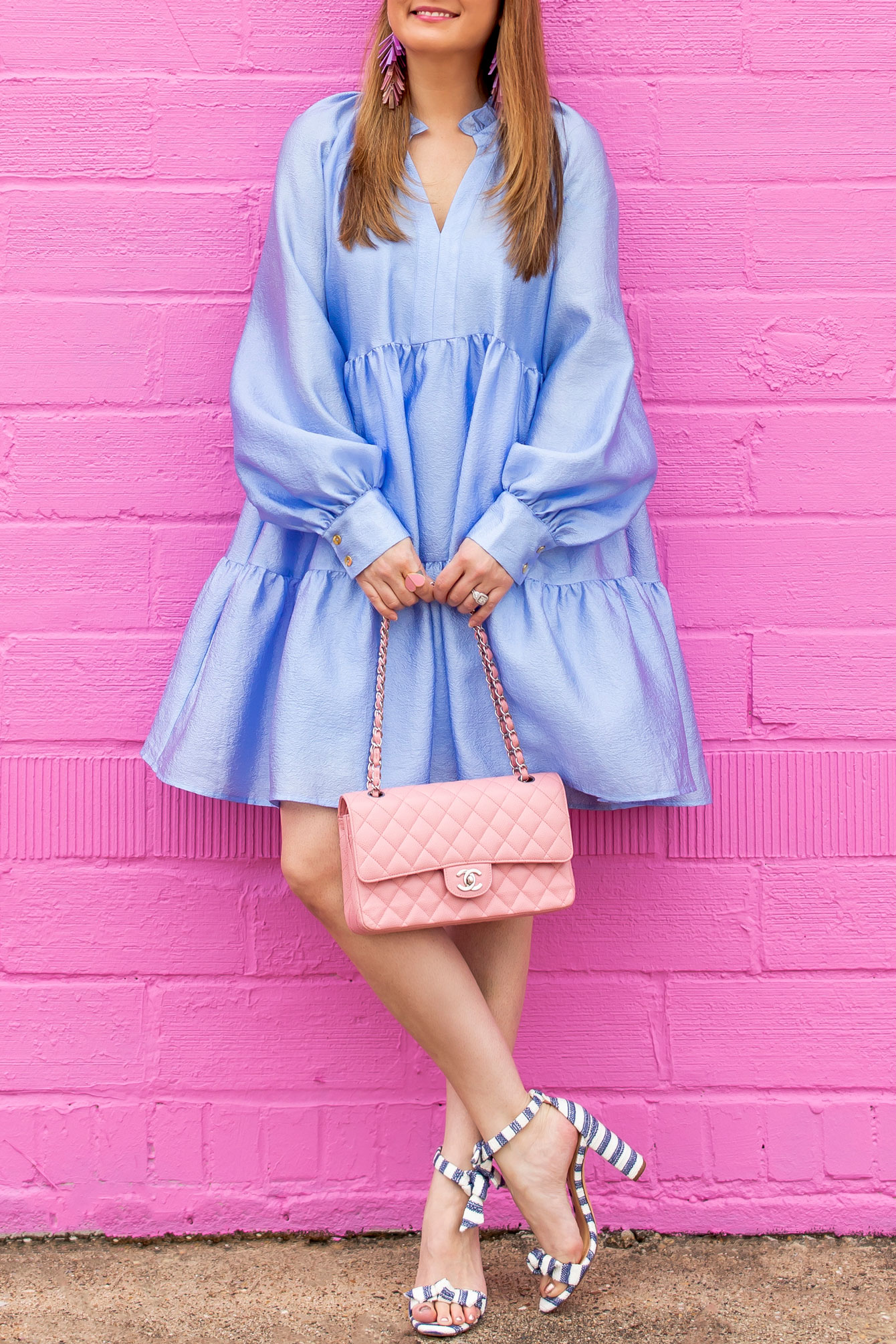 Stine Goya Blue Ruffle Dress