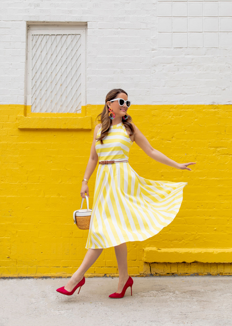 Styling a Yellow Stripe Dress