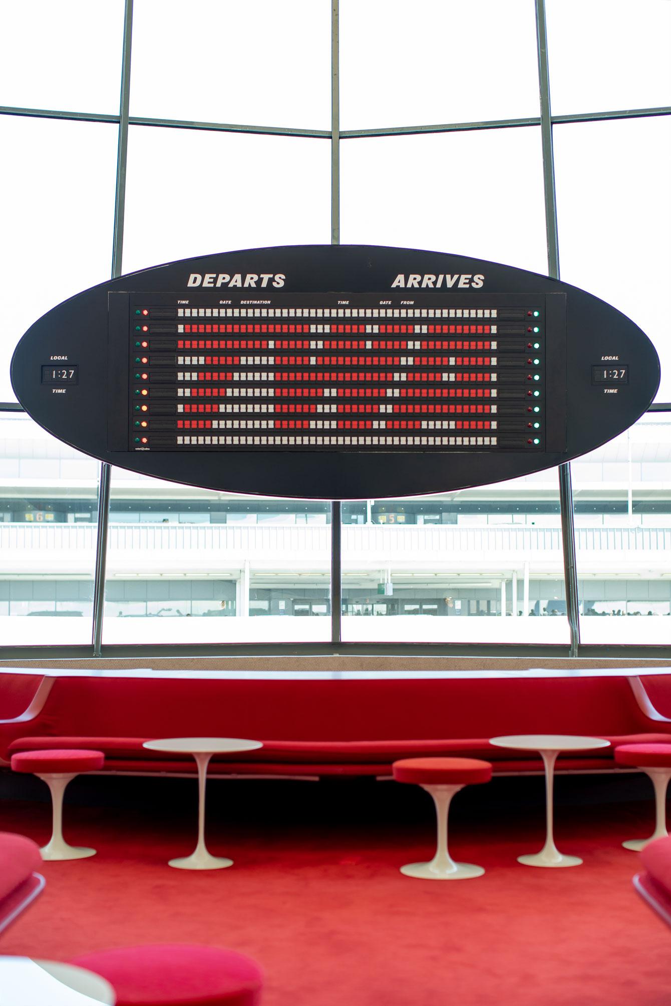 TWA Departure Board