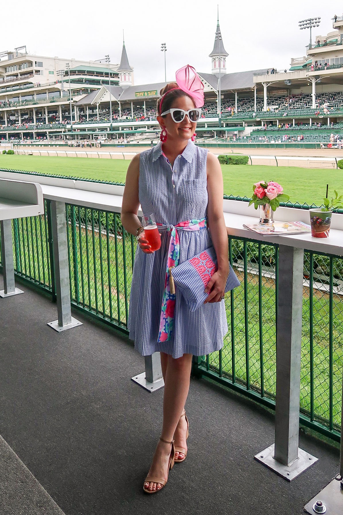 Vineyard Vines Kentucky Derby Seersucker Dress