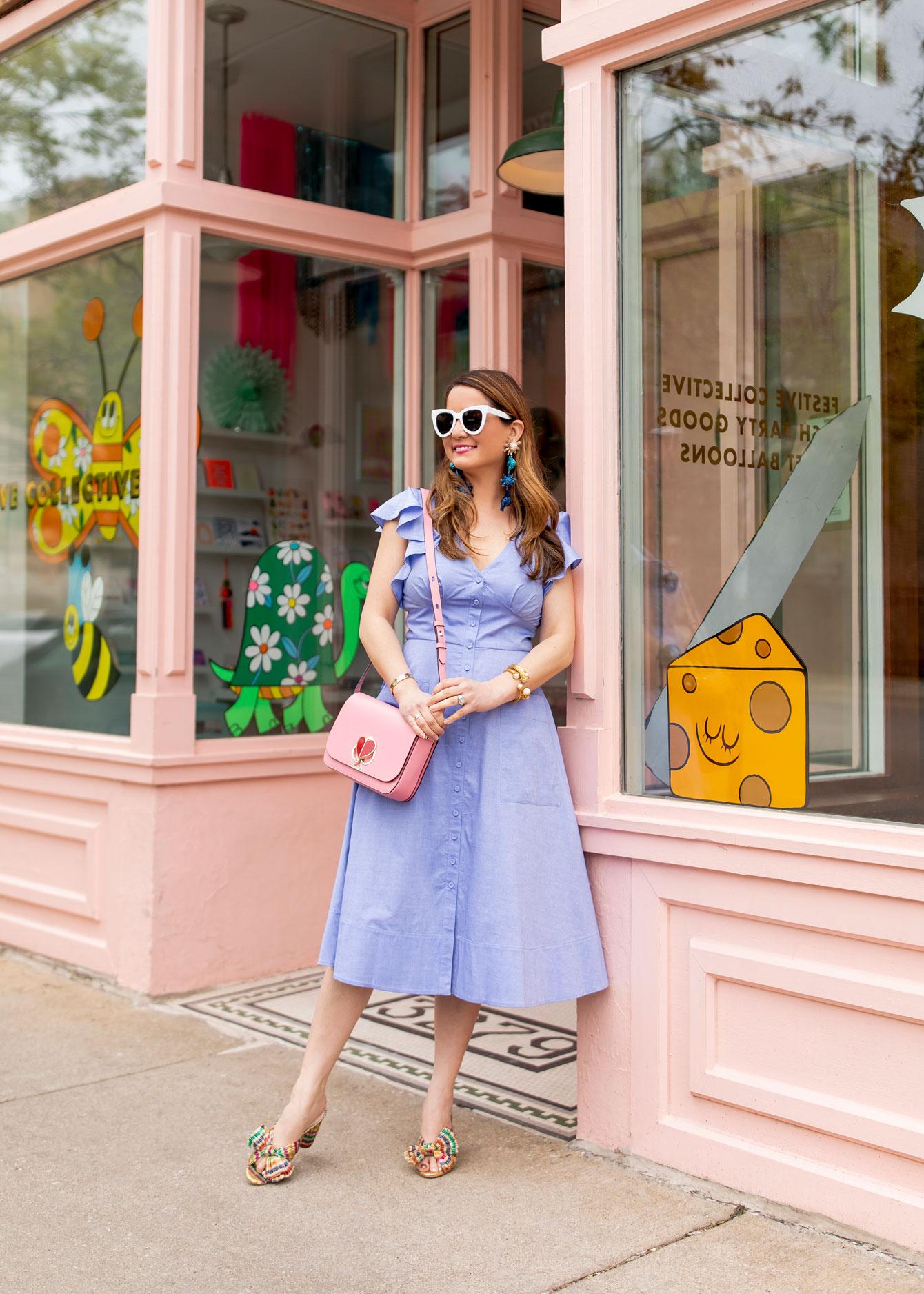 Jennifer lake Chambray Dress