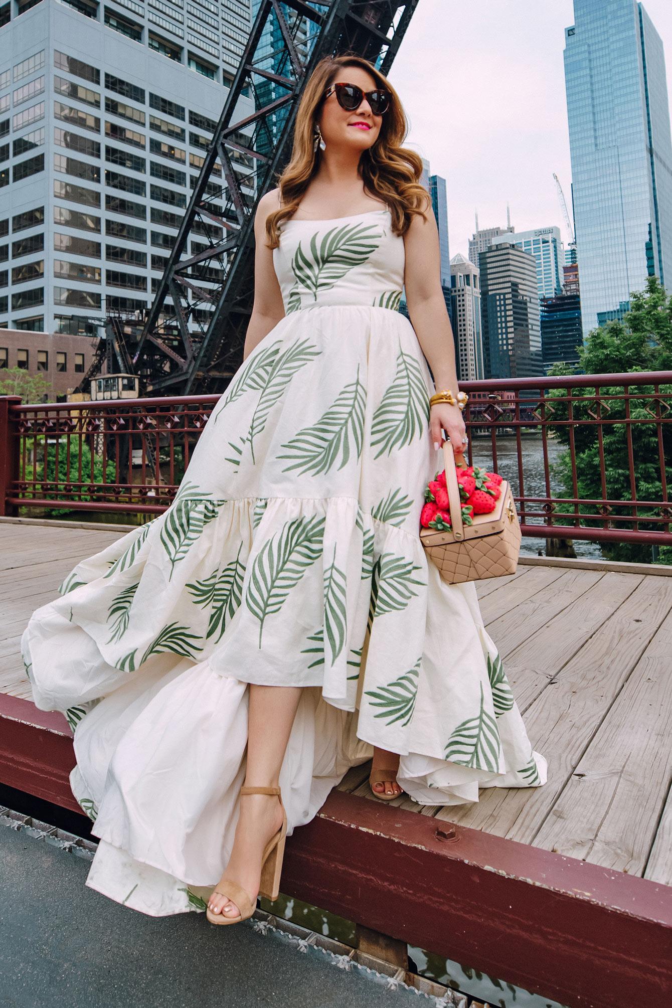 Mestiza Palm Print Gown