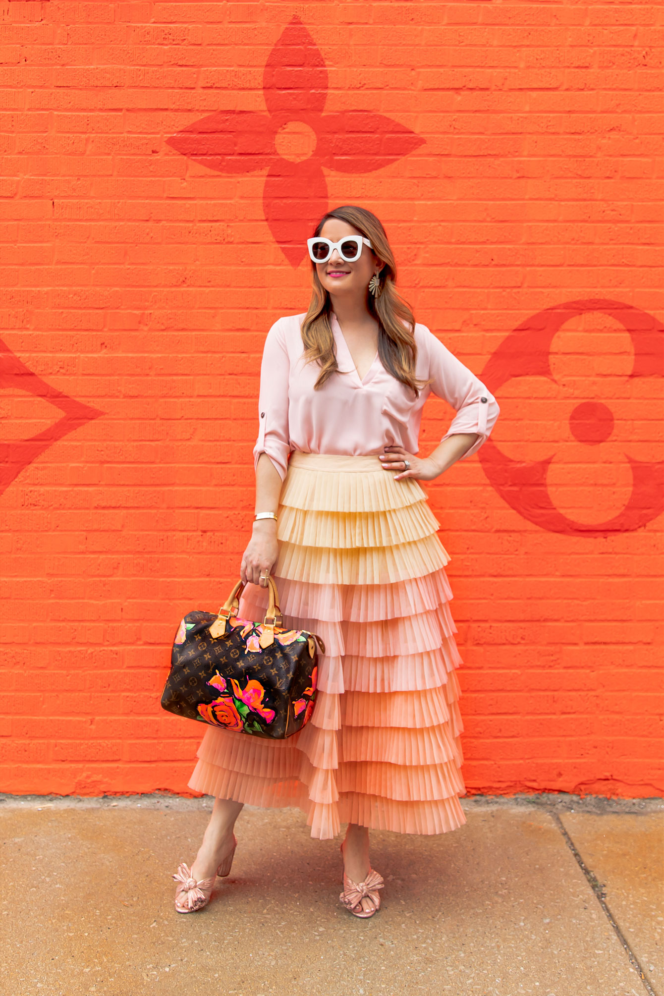 Ombre Tulle Skirt Anthropologie