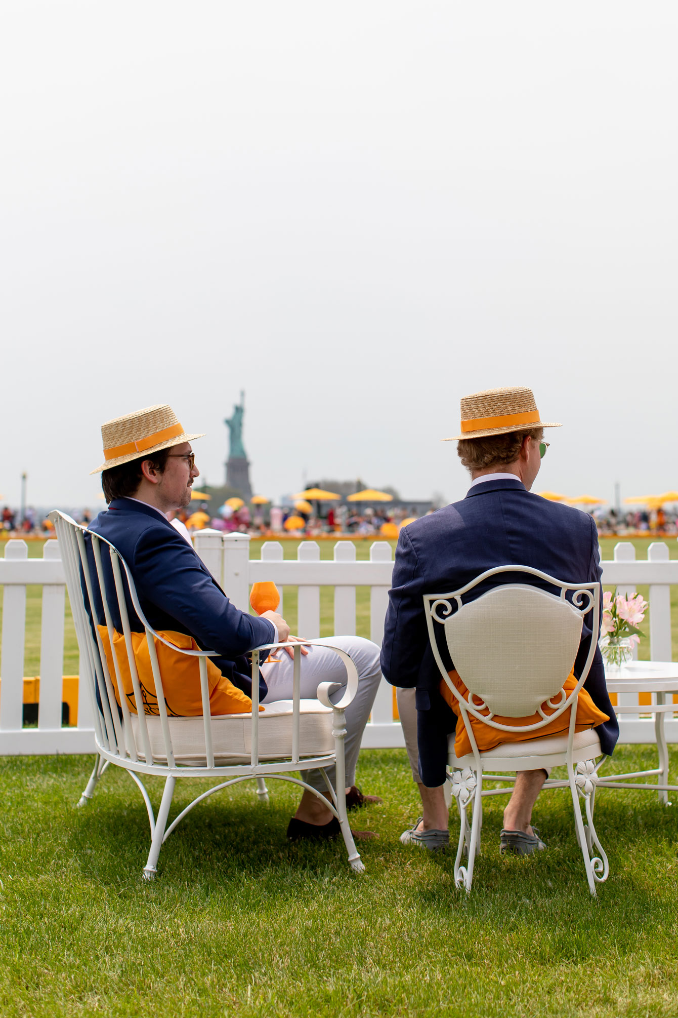 Veuve Clicquot Polo Classic Straw Boater Hat